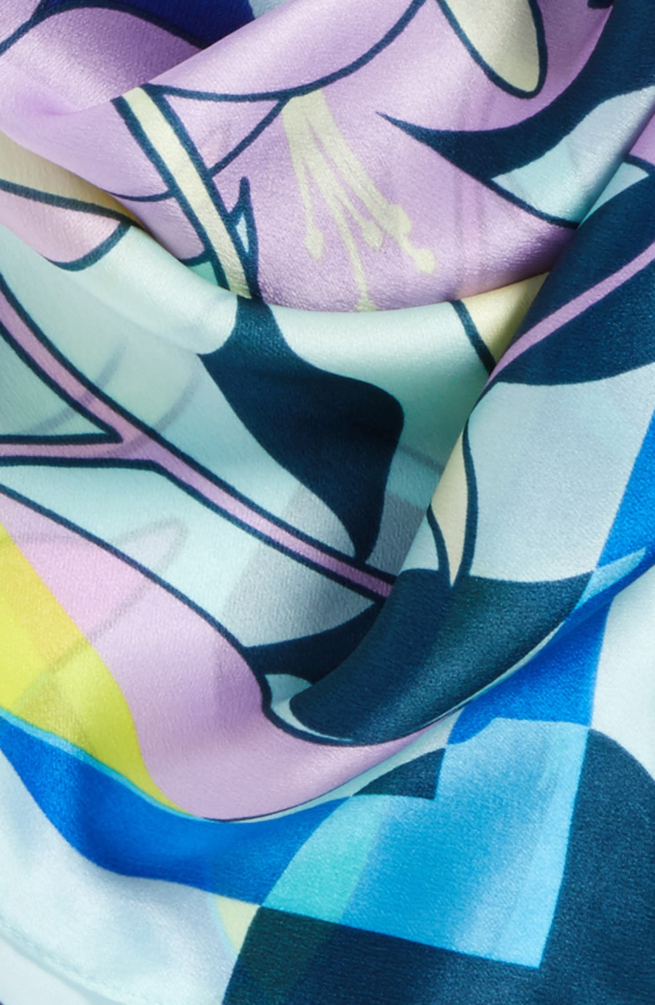 Print Silk Scarf,                             Alternate thumbnail 47, color,