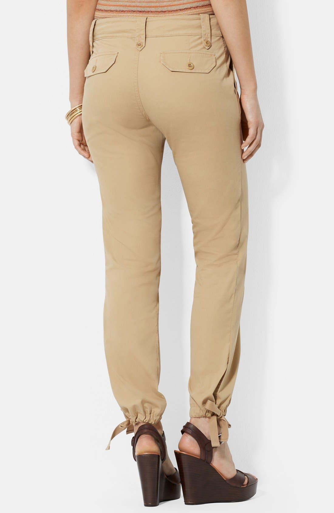 Cotton Drawstring Ankle Cargo Pants,                             Alternate thumbnail 2, color,                             265