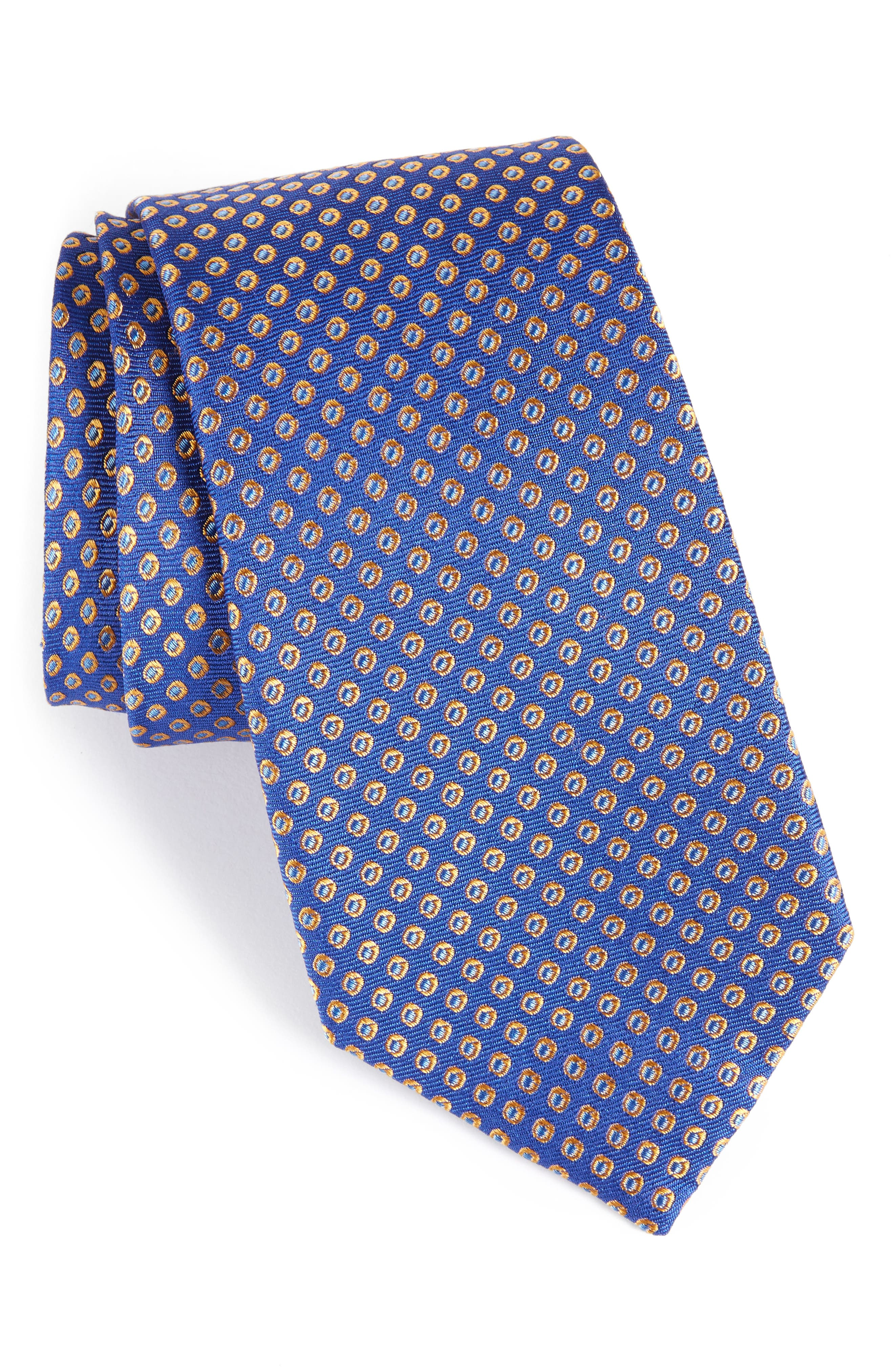 Oxford Dot Silk Tie,                             Main thumbnail 3, color,