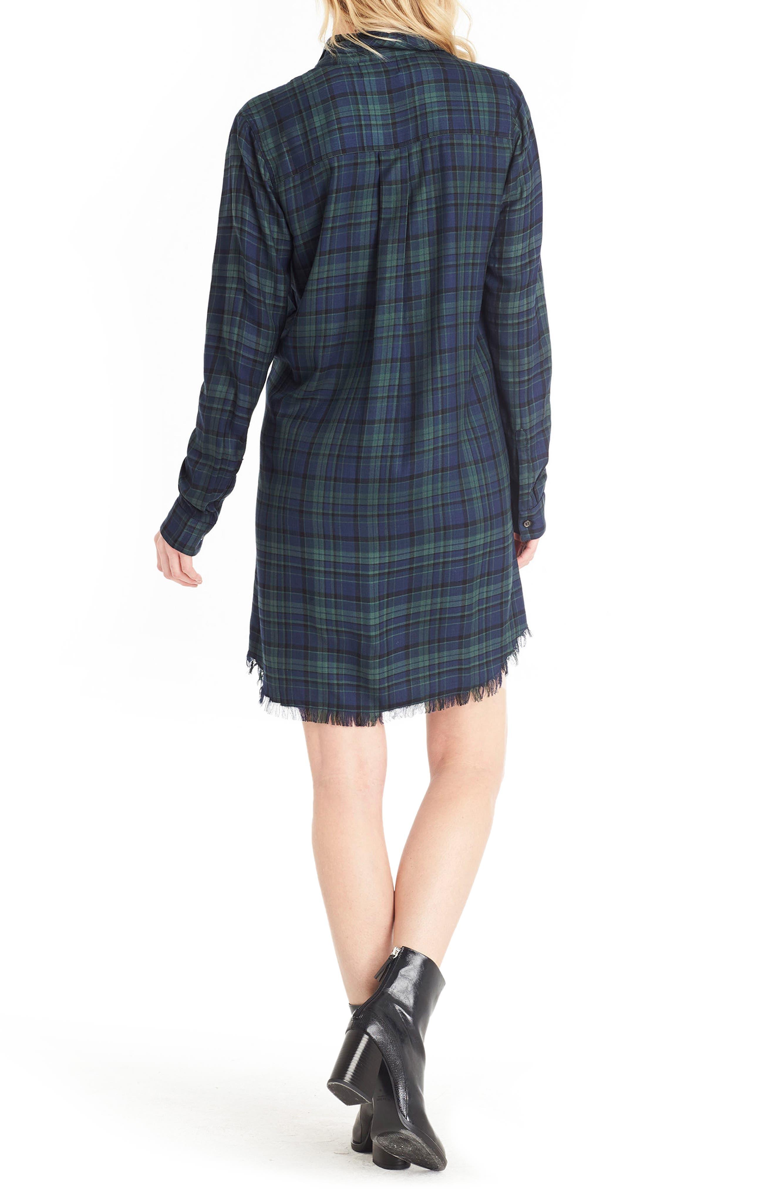 Plaid Shirtdress,                             Alternate thumbnail 2, color,                             405