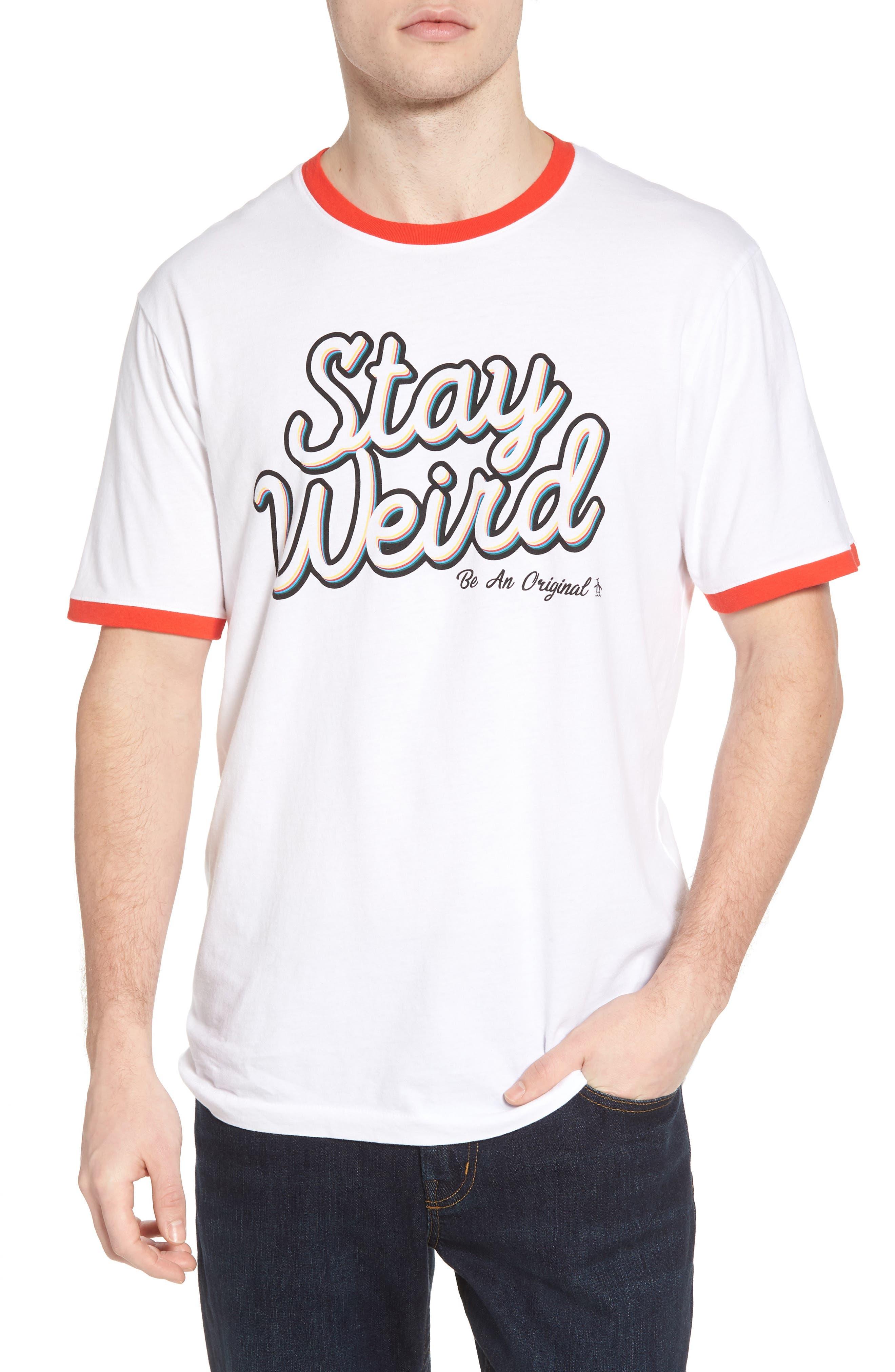 Stay Weird T-Shirt,                             Main thumbnail 1, color,                             118