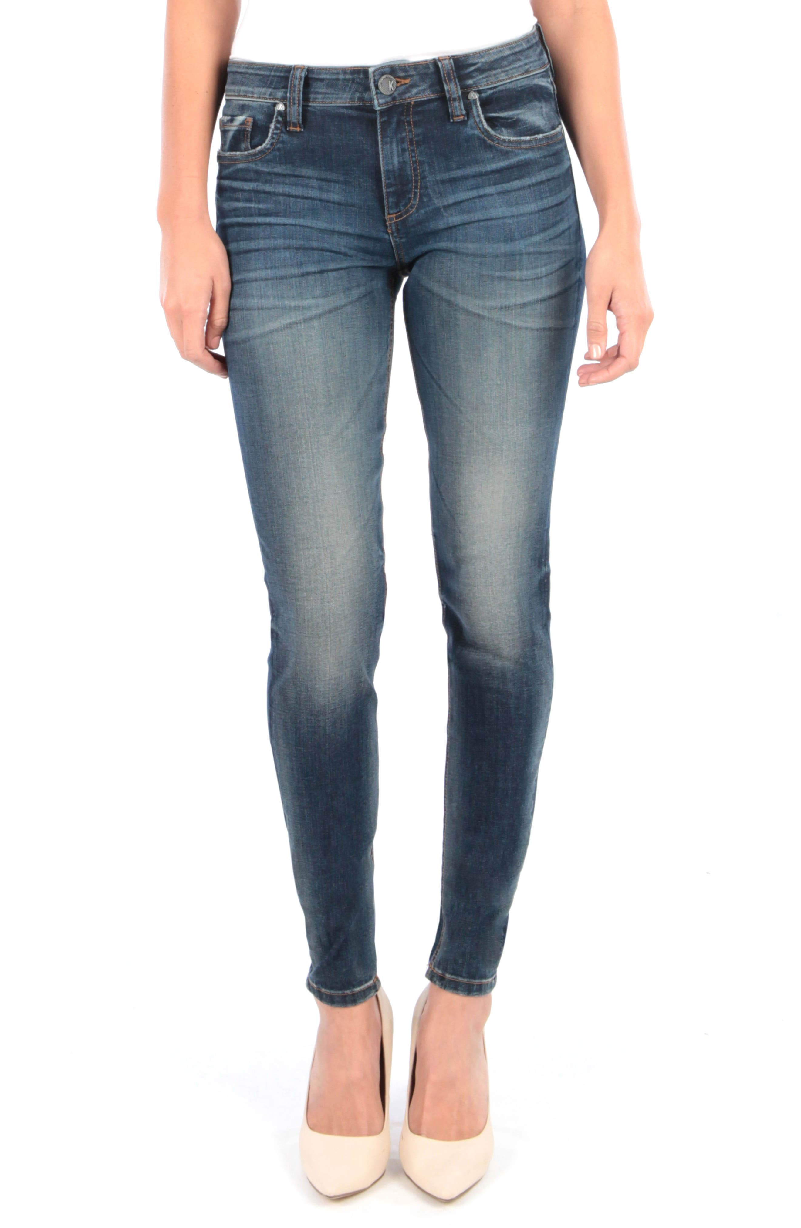 Kut From The Kloth Donna High Waist Skinny Jeans, Blue