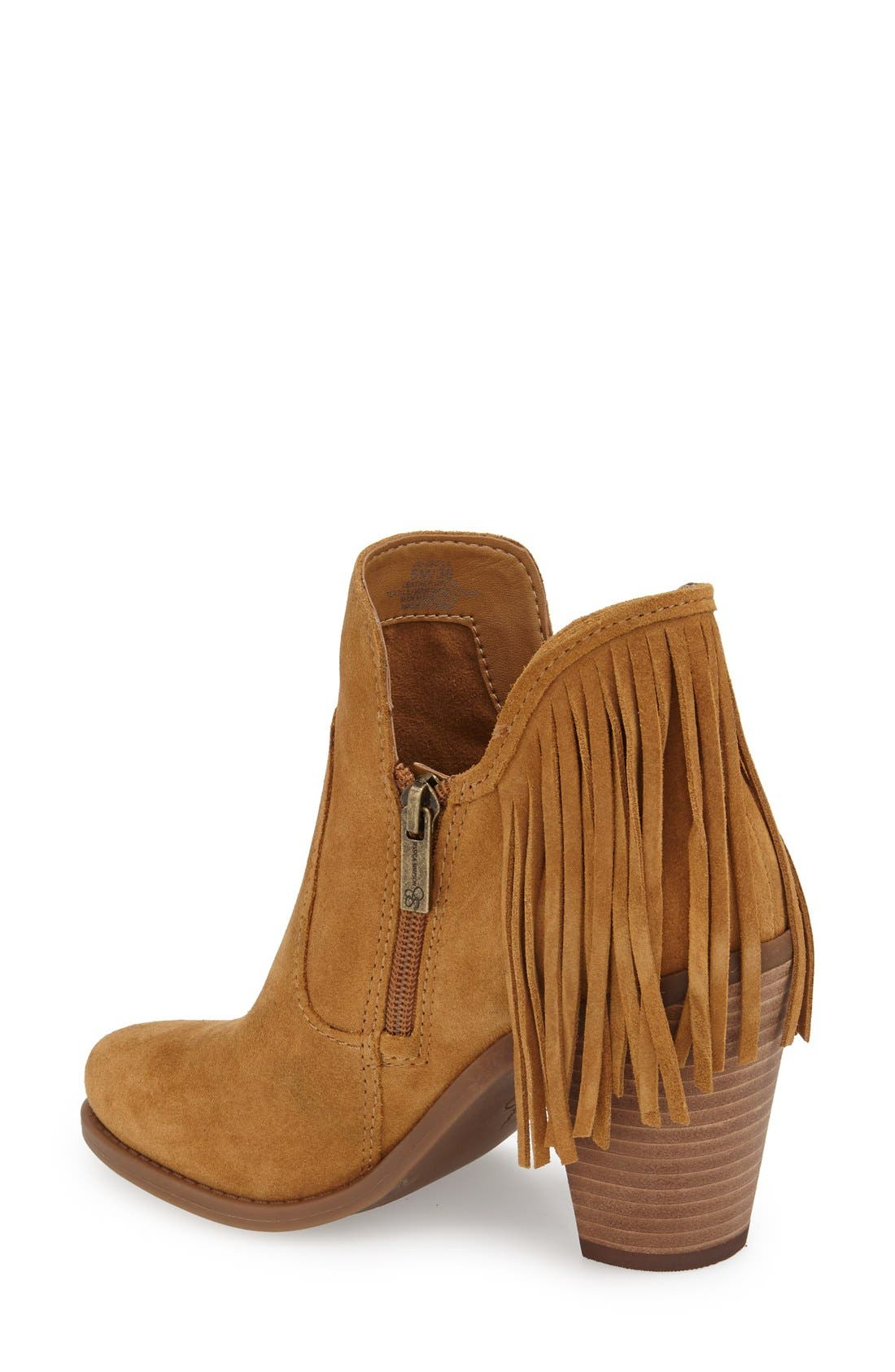 'Cecila' Fringe Bootie,                             Alternate thumbnail 2, color,                             201