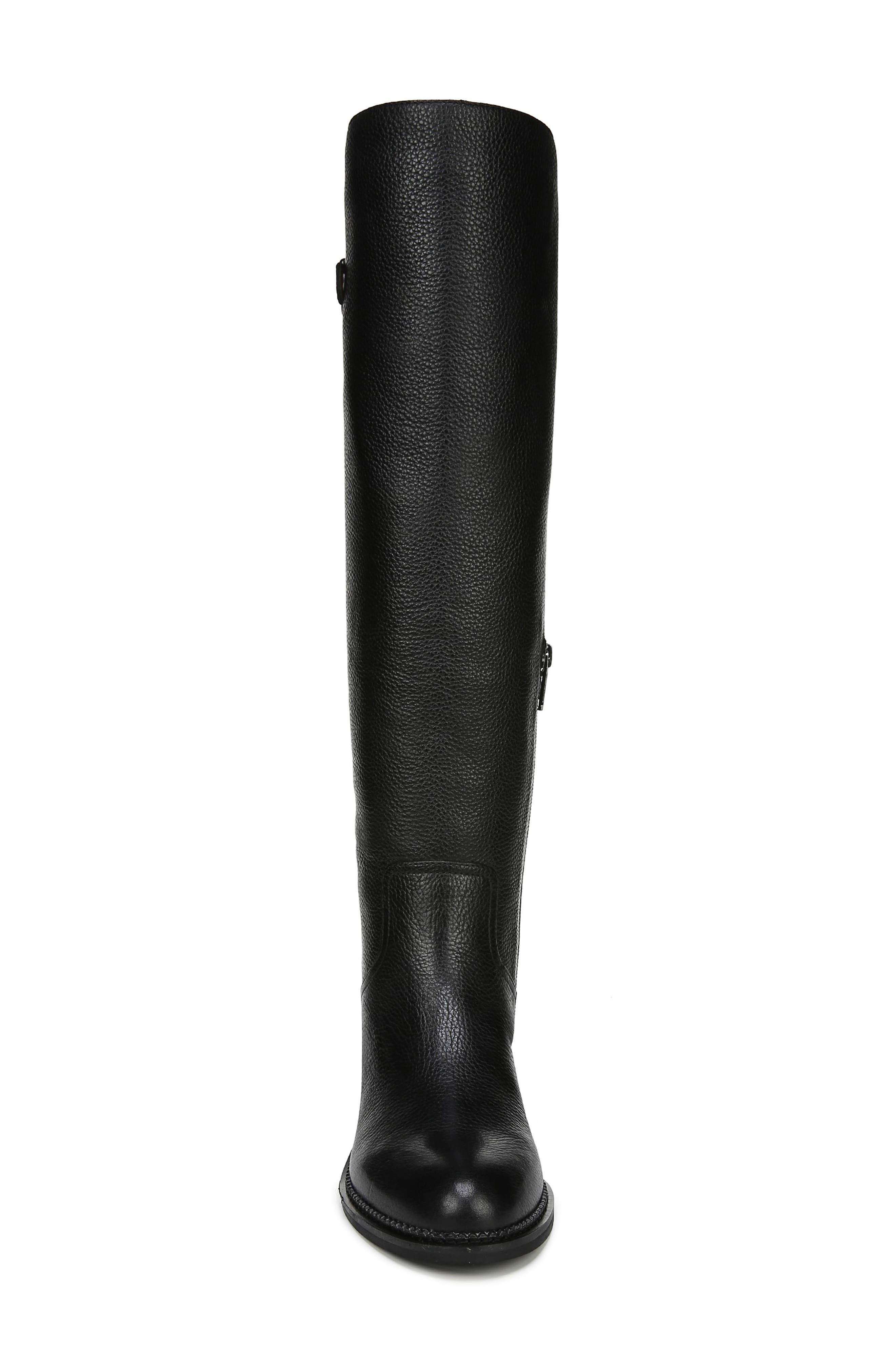 Halloway Knee High Boot,                             Alternate thumbnail 4, color,                             BLACK LEATHER
