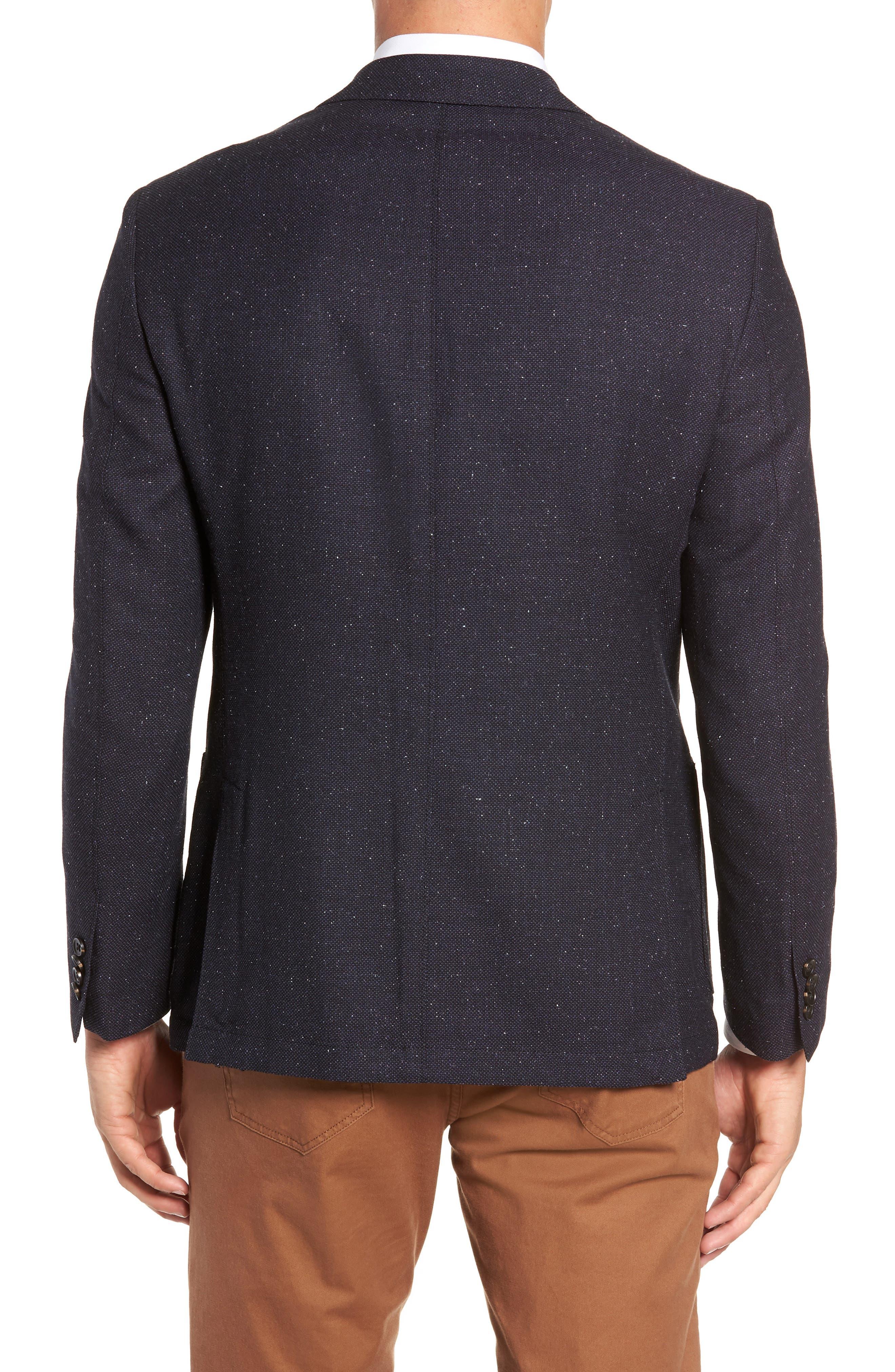 Regular Fit Wool & Silk Blazer,                             Alternate thumbnail 2, color,                             BLUE
