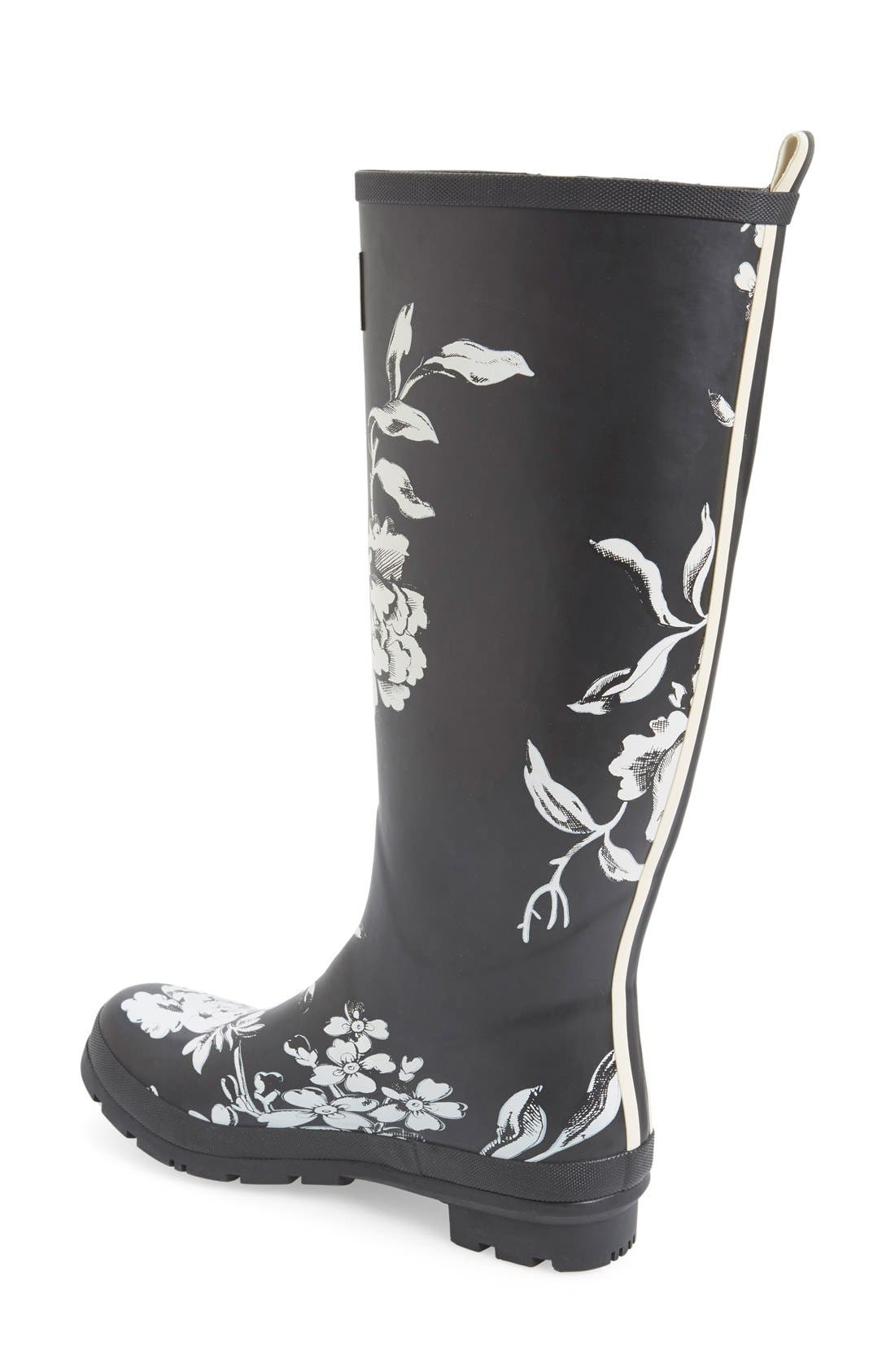 'Welly' Print Rain Boot,                             Alternate thumbnail 47, color,