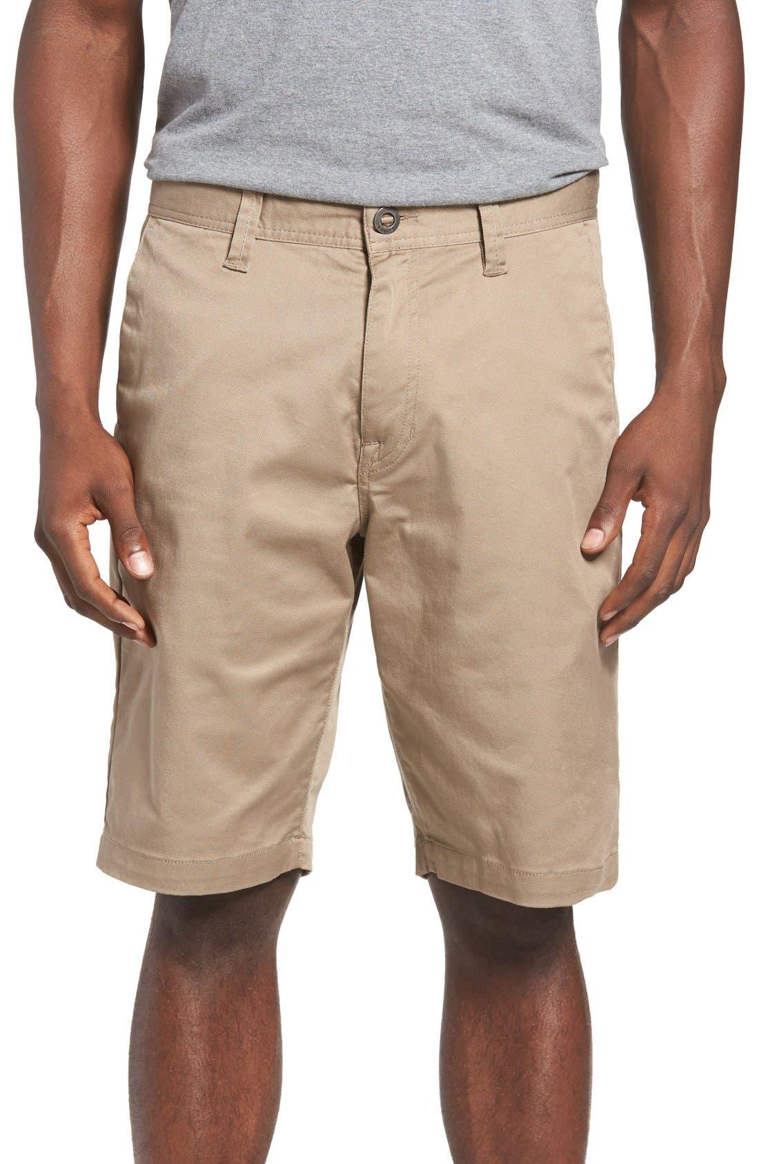 'Modern' Stretch Chino Shorts,                             Main thumbnail 8, color,