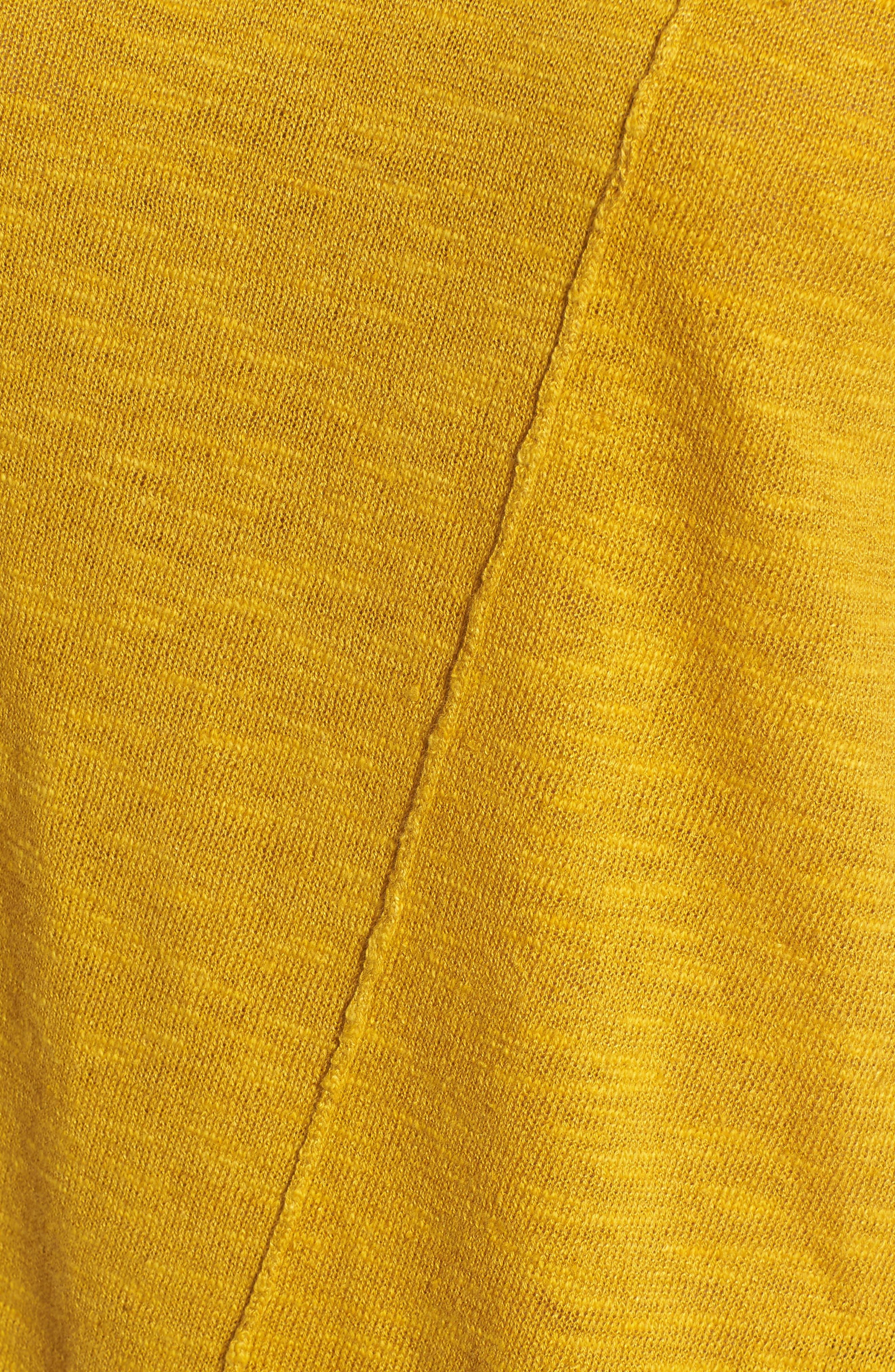 Cap Sleeve Organic Linen & Cotton Scoop Neck Top,                             Alternate thumbnail 71, color,