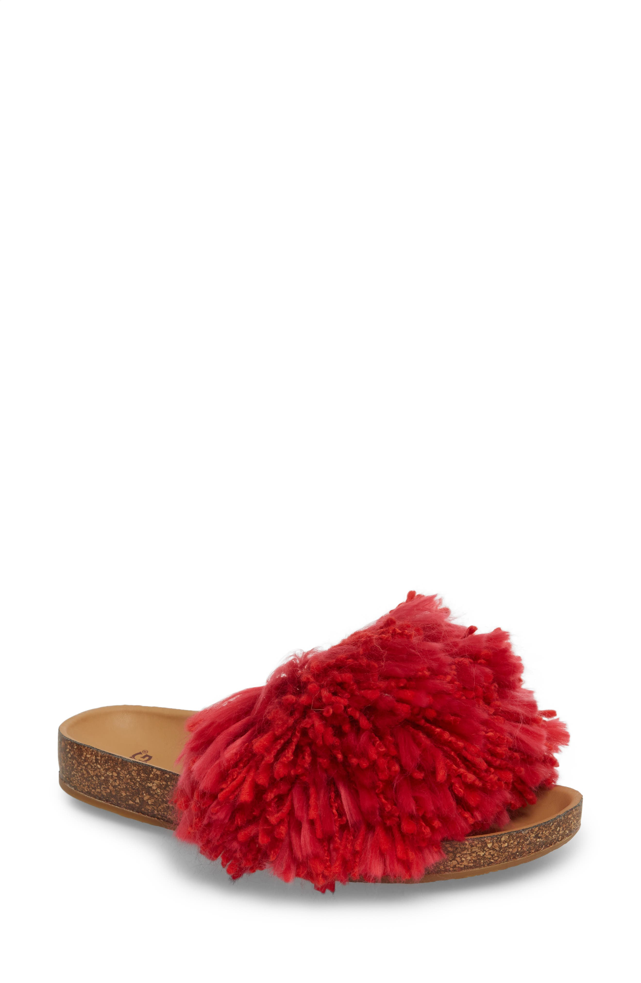 Ugg Cindi Yarn Pom Sandal, Red