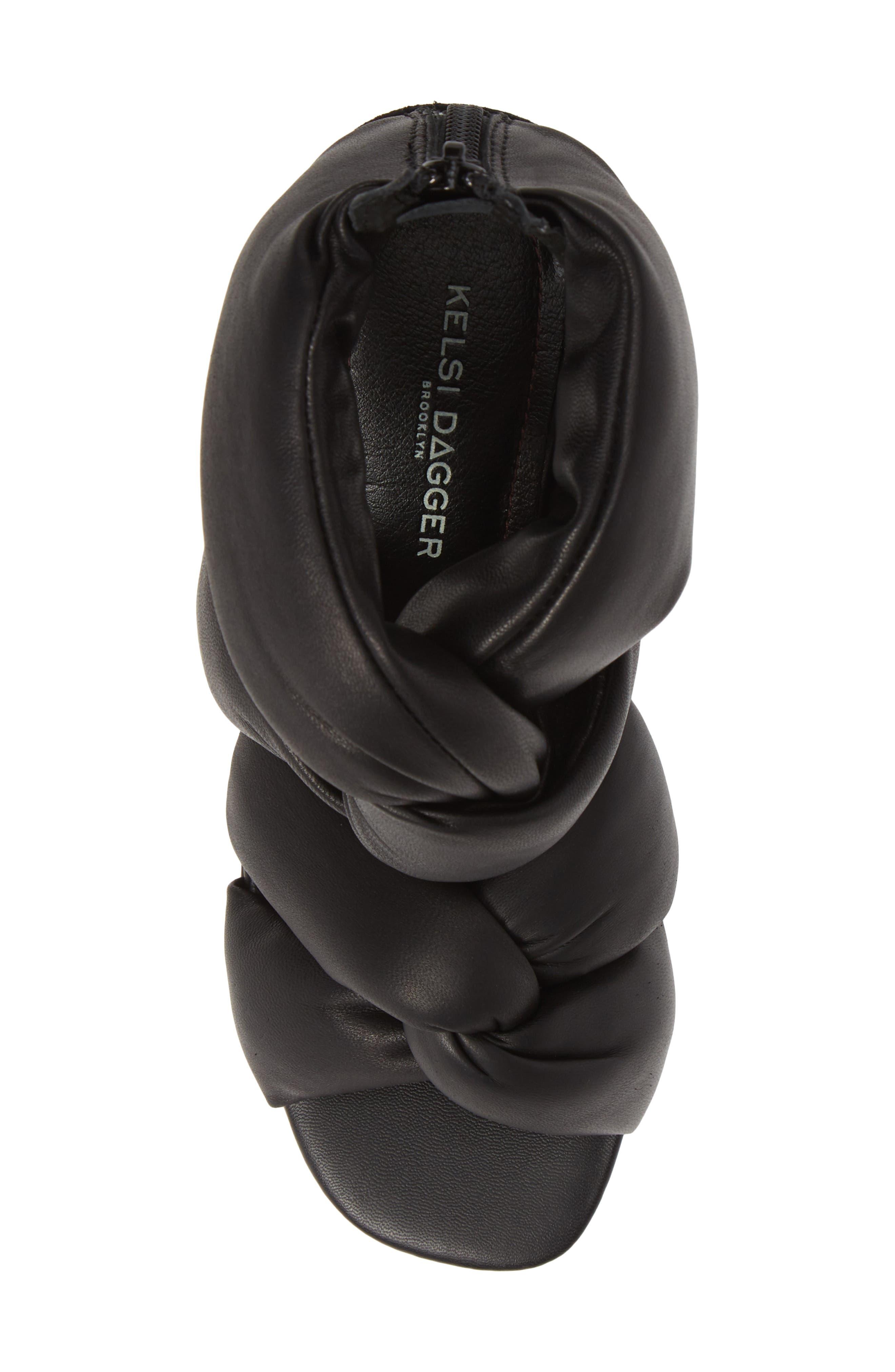 KELSI DAGGER BROOKLYN,                             Maddox Knotted Strap Sandal,                             Alternate thumbnail 5, color,                             BLACK