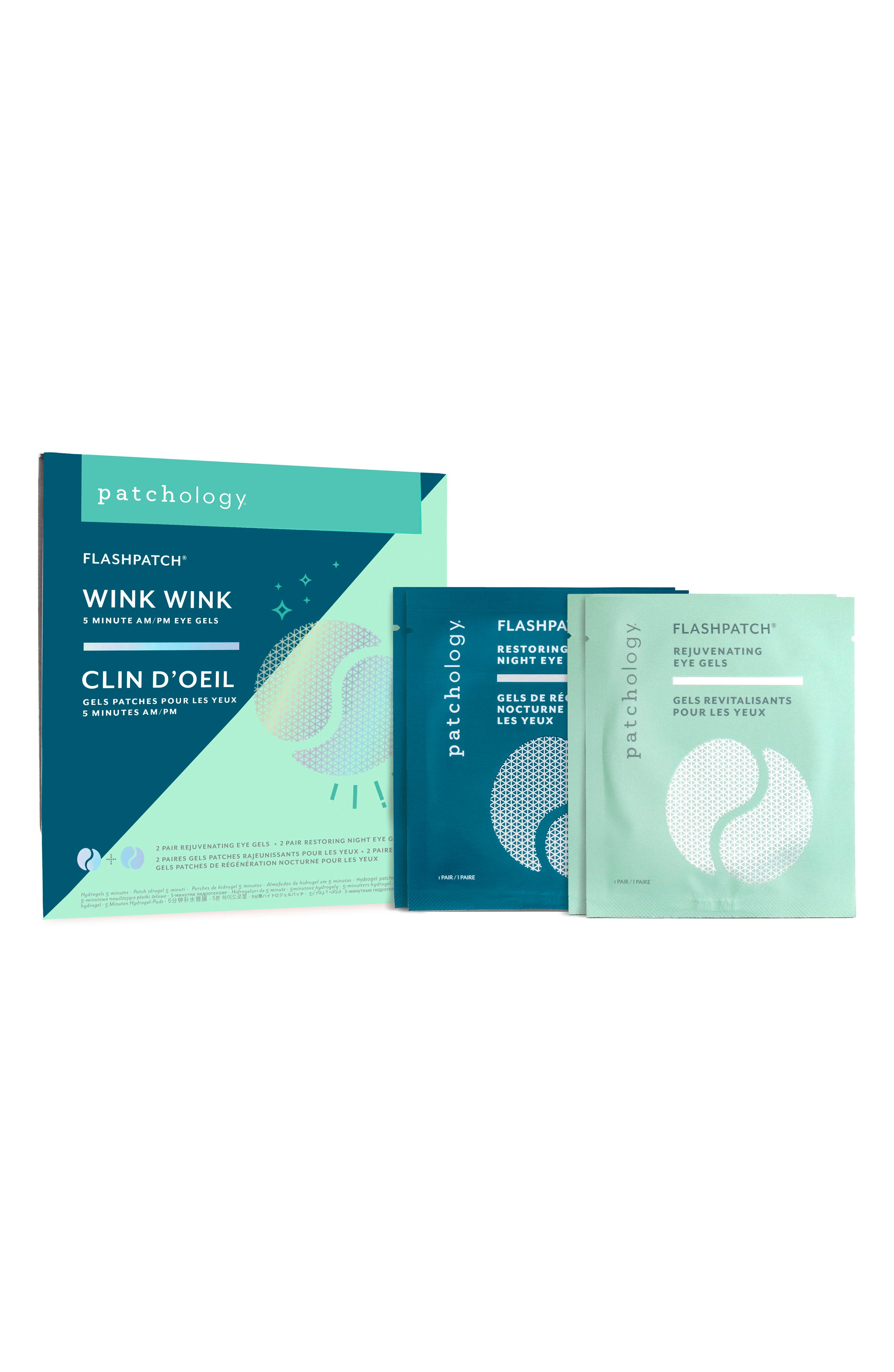 Flashpatch® Wink Wink Two Restoring Night Patches & Two Rejuvenating Eye Gels
