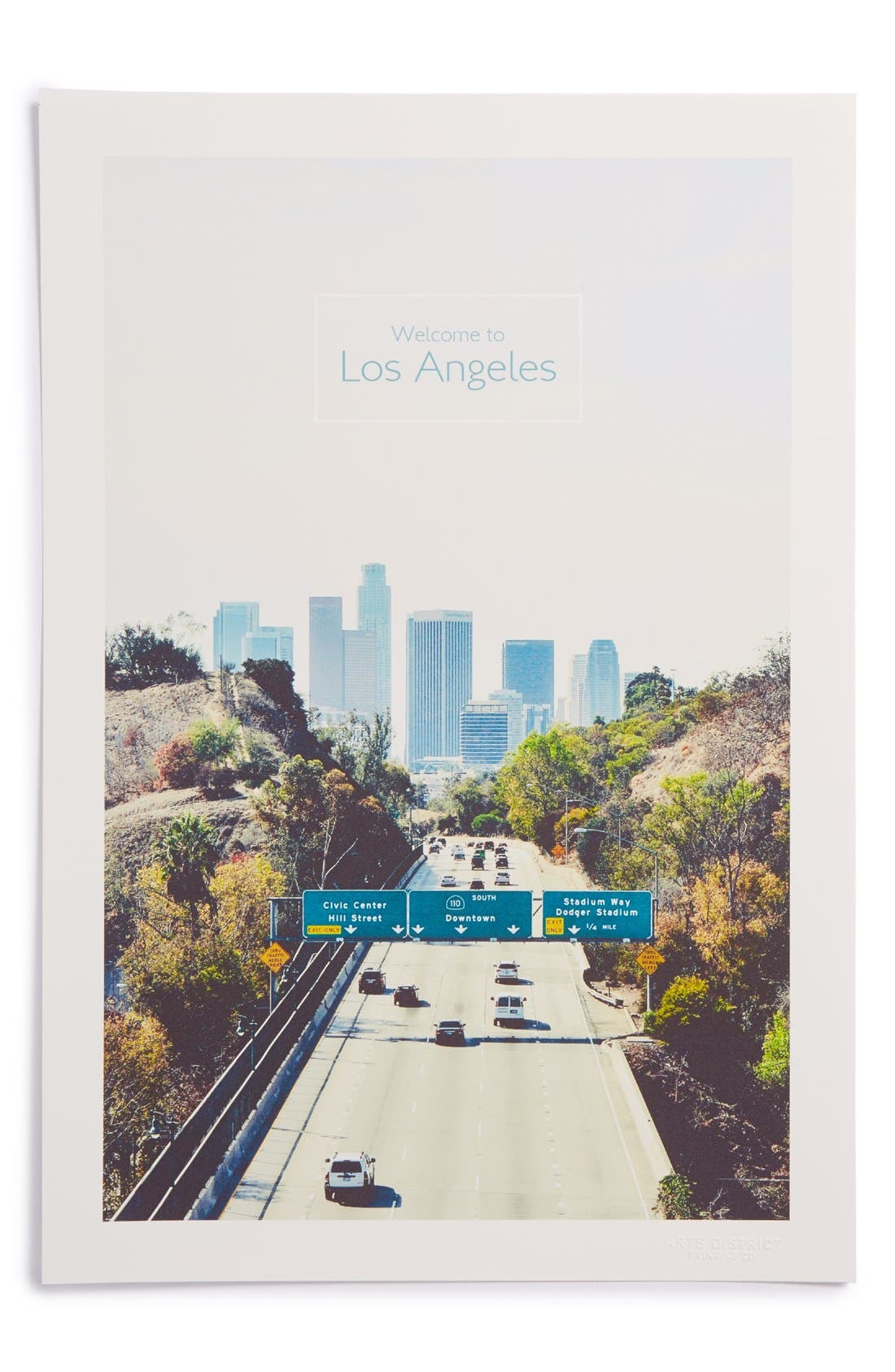 ARTS DISTRICT PRINTING CO.,                             'Welcome to Los Angeles' Print,                             Main thumbnail 1, color,                             100