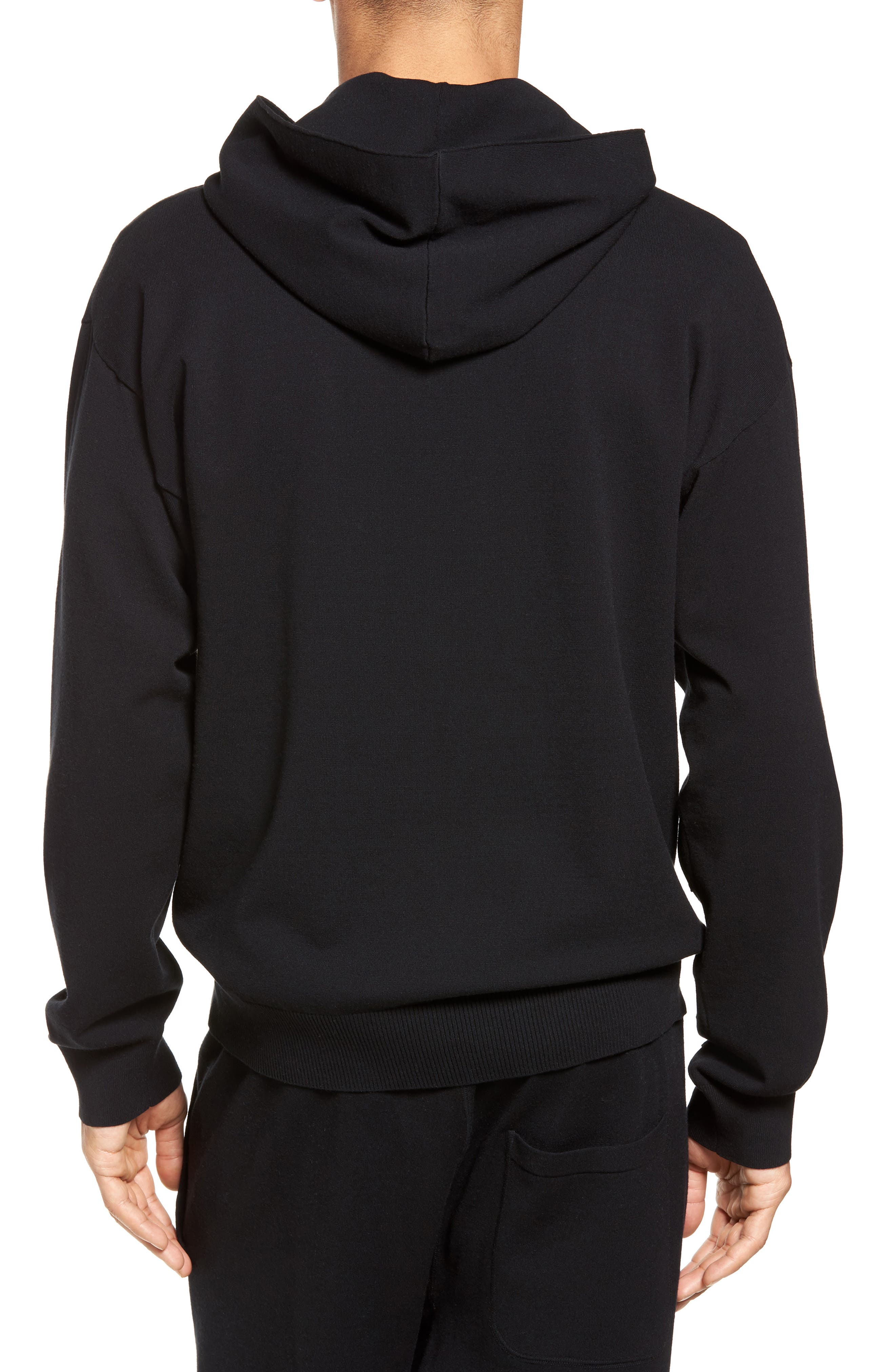 Distressed Pullover Hoodie,                             Alternate thumbnail 3, color,