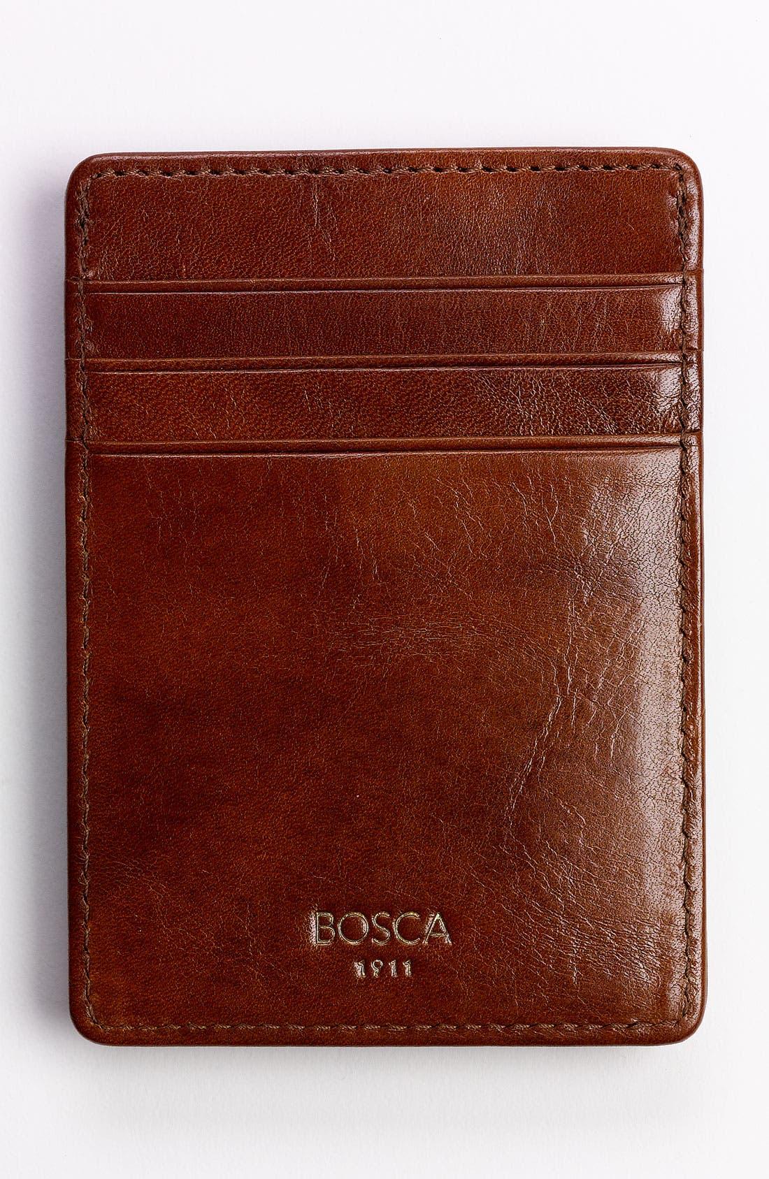 'Old Leather' Front Pocket Wallet,                         Main,                         color, AMBER