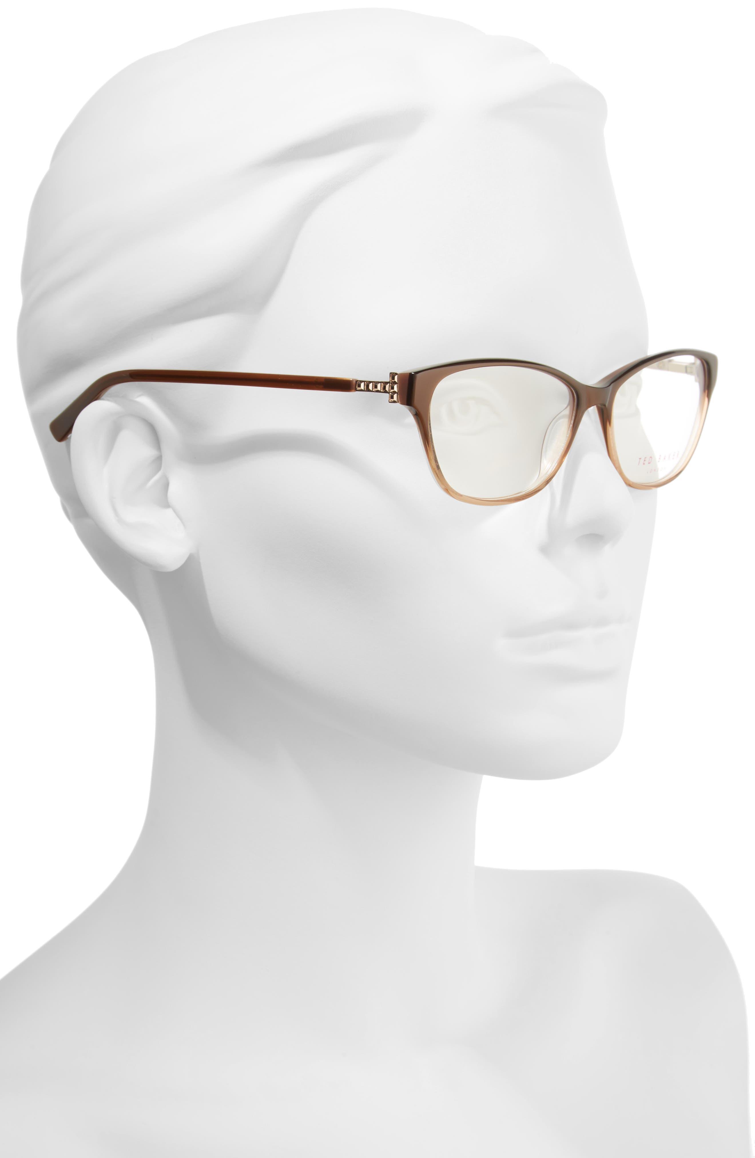 53mm Optical Cat Eye Glasses,                             Alternate thumbnail 2, color,                             200