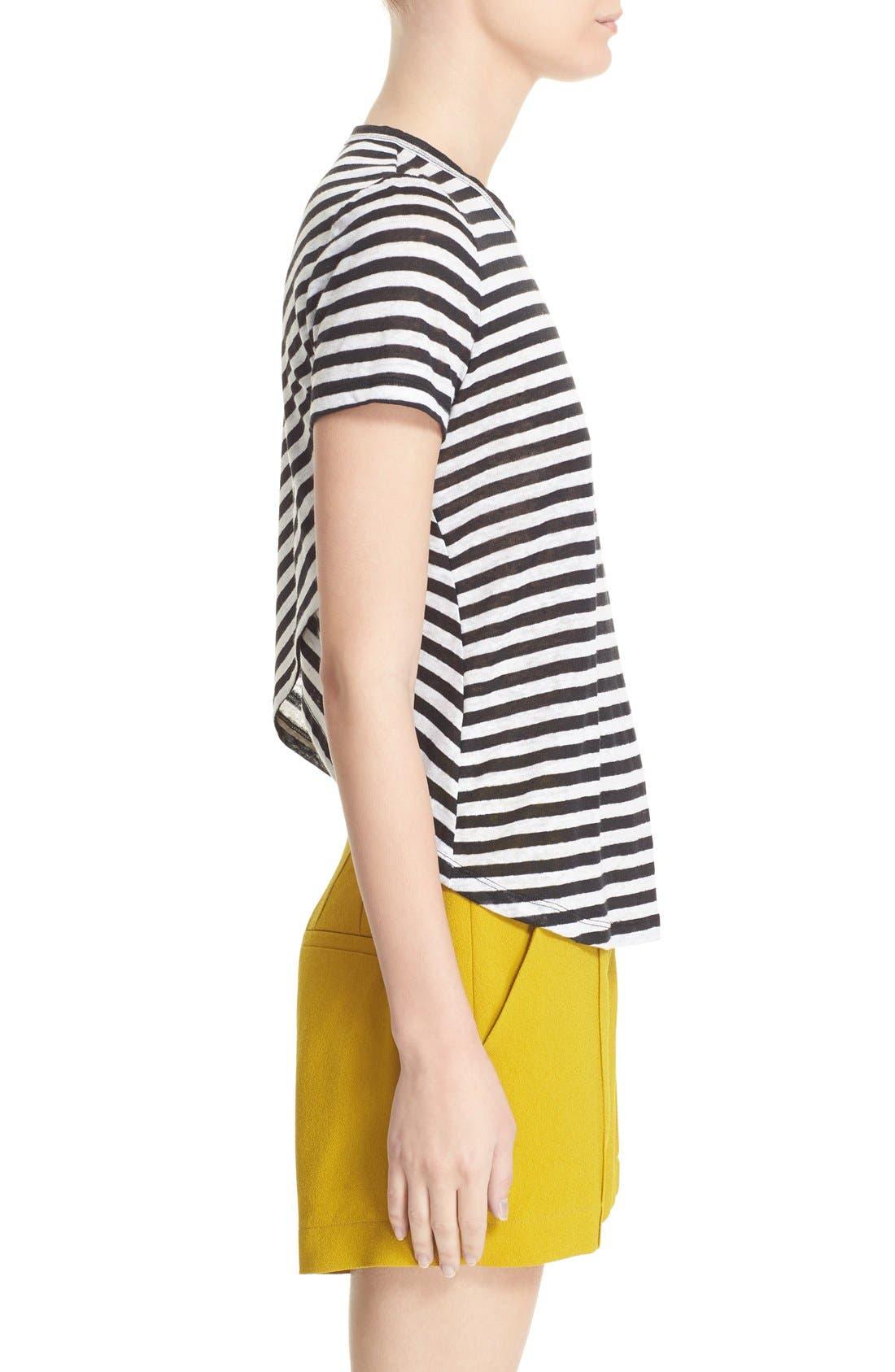 Tesi Stripe Linen Tee,                             Alternate thumbnail 3, color,                             193