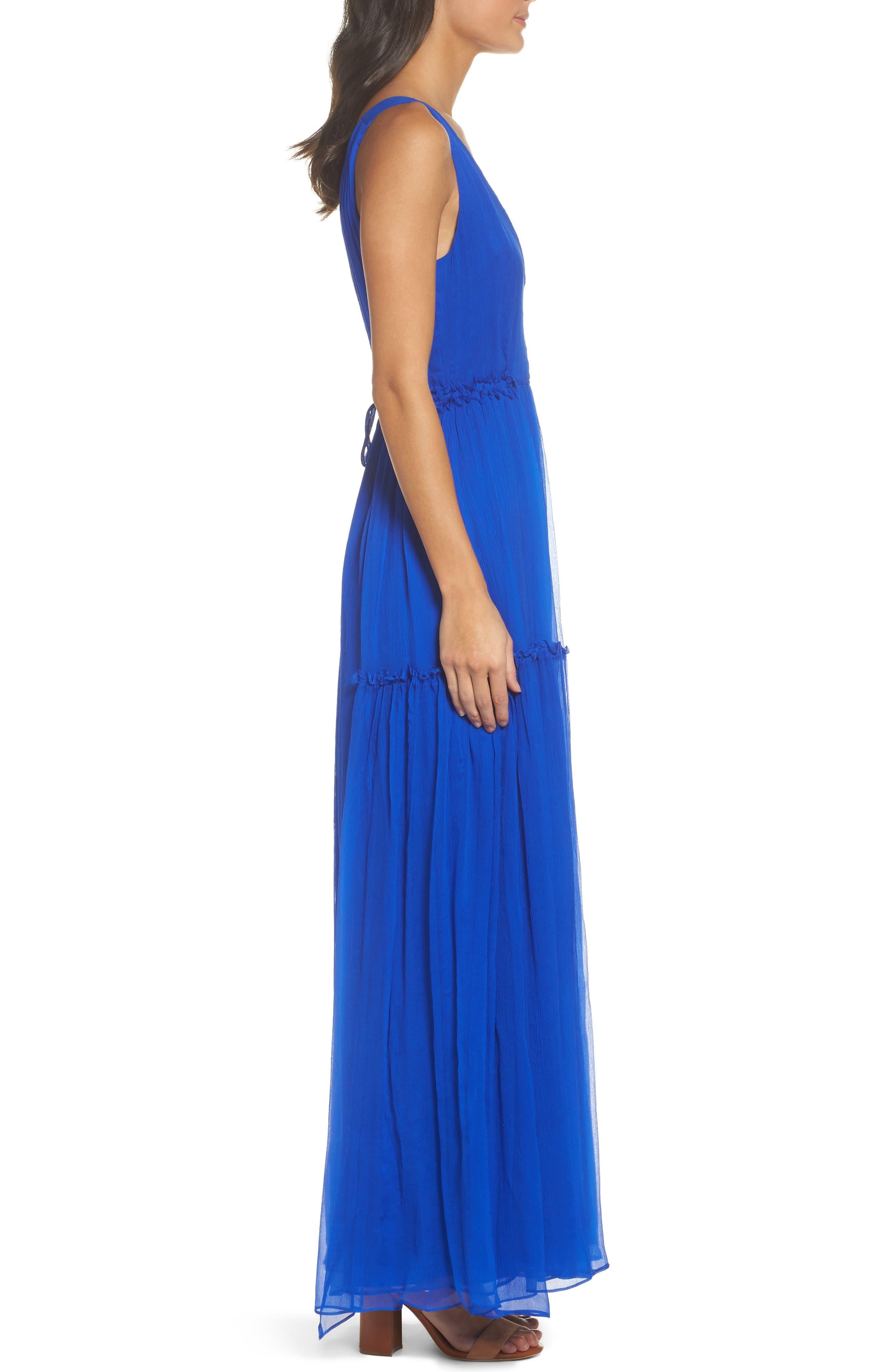 BB Dakota Yasmeen Tiered Georgette Maxi Dress,                             Alternate thumbnail 3, color,                             488