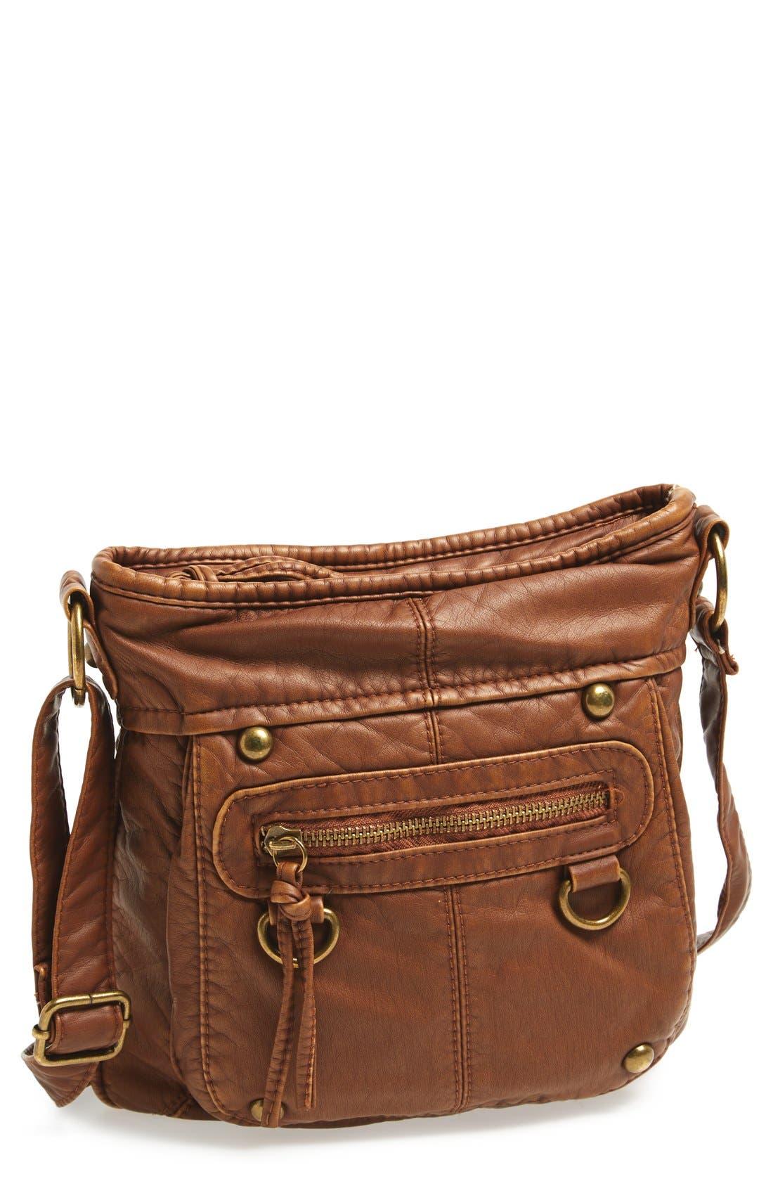 Washed Mini Crossbody Bag,                         Main,                         color, 200