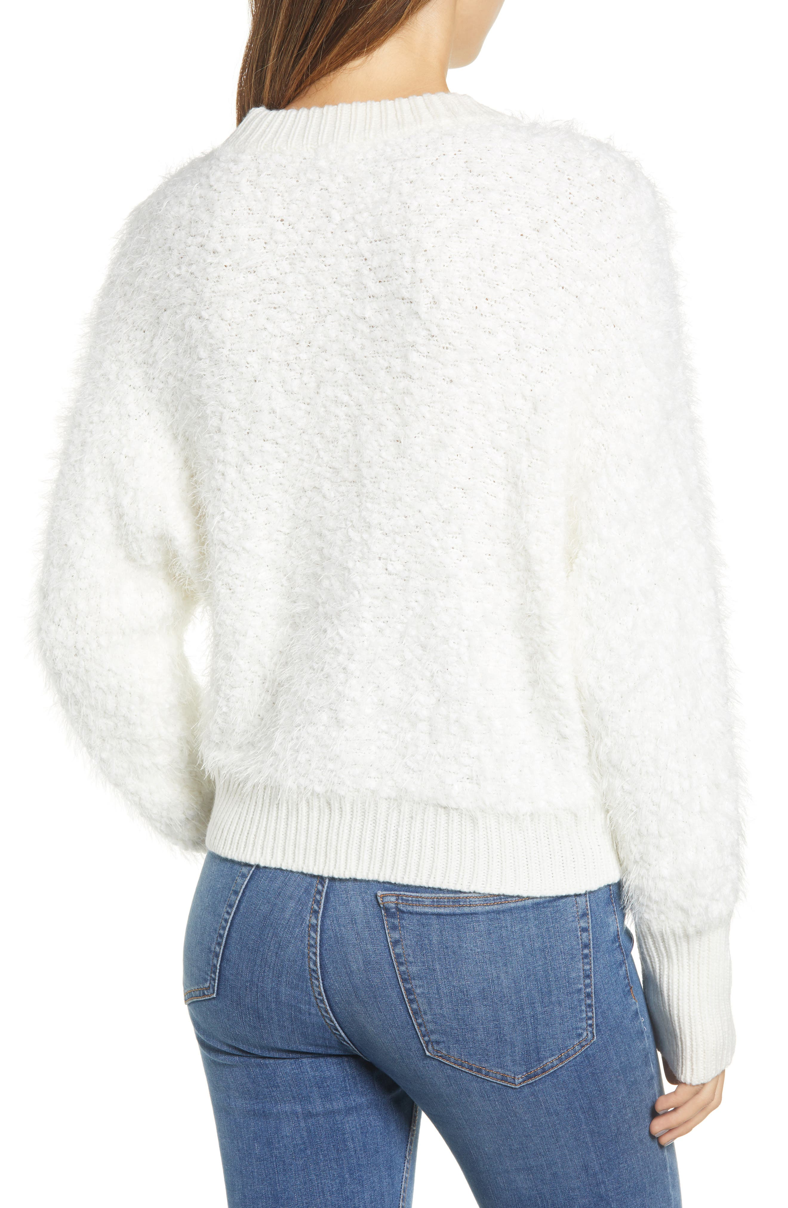 Fluffy Dolman Sweater,                             Alternate thumbnail 2, color,                             IVORY