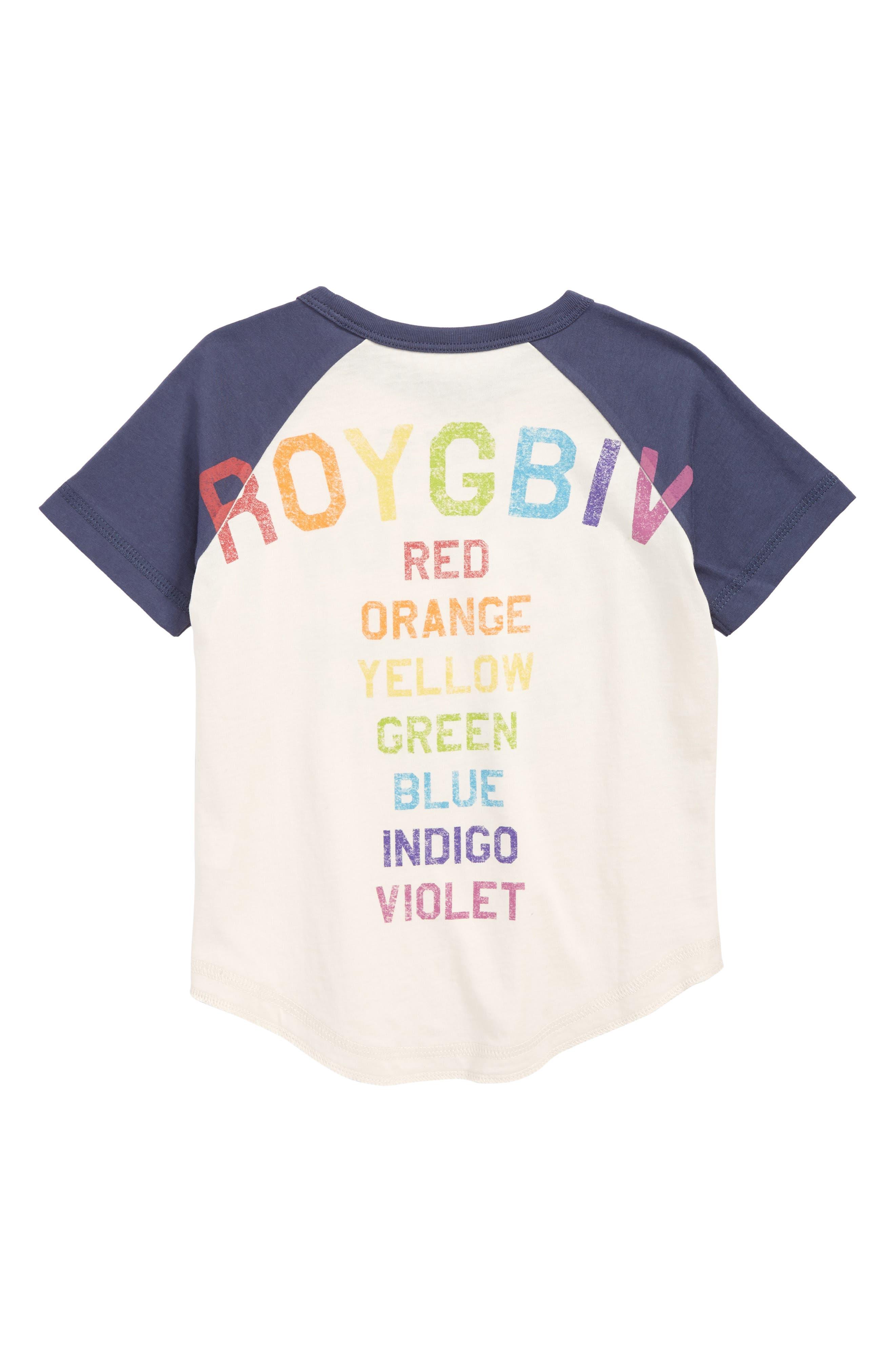 Colors Graphic Raglan Shirt,                             Alternate thumbnail 2, color,                             100
