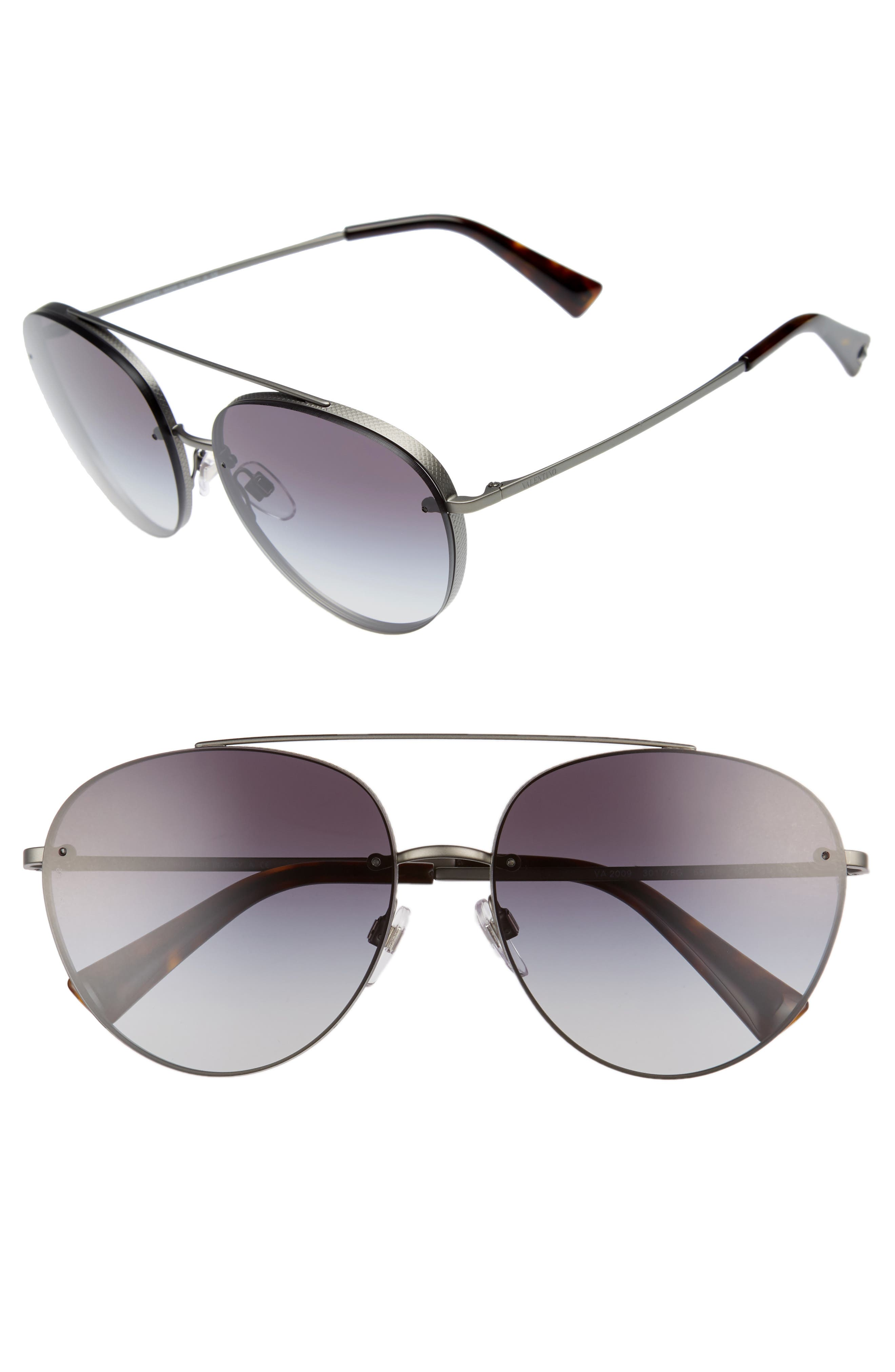 58mm Gradient Aviator Sunglasses,                         Main,                         color, 021