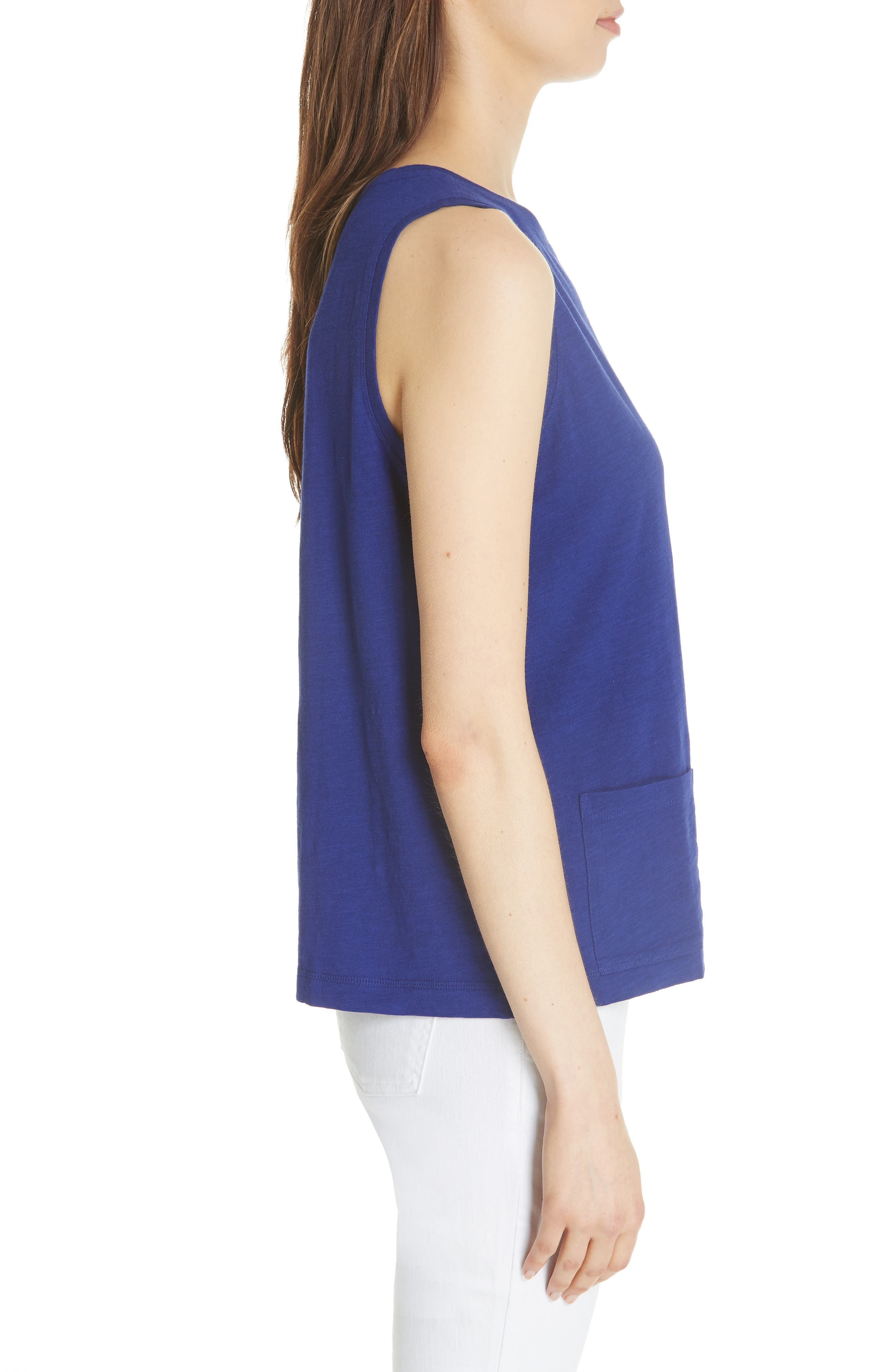 Short Organic Cotton Shell,                             Alternate thumbnail 3, color,                             BLUE VIOLET