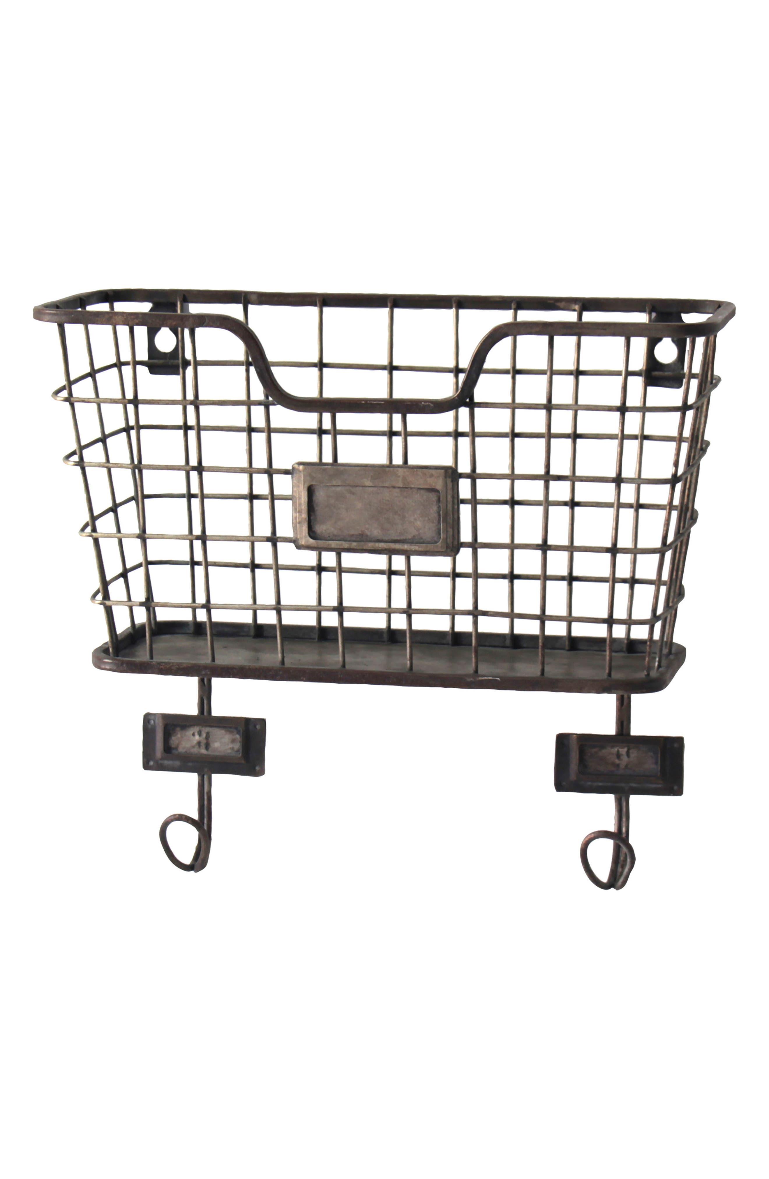 Wall Basket,                         Main,                         color, METAL