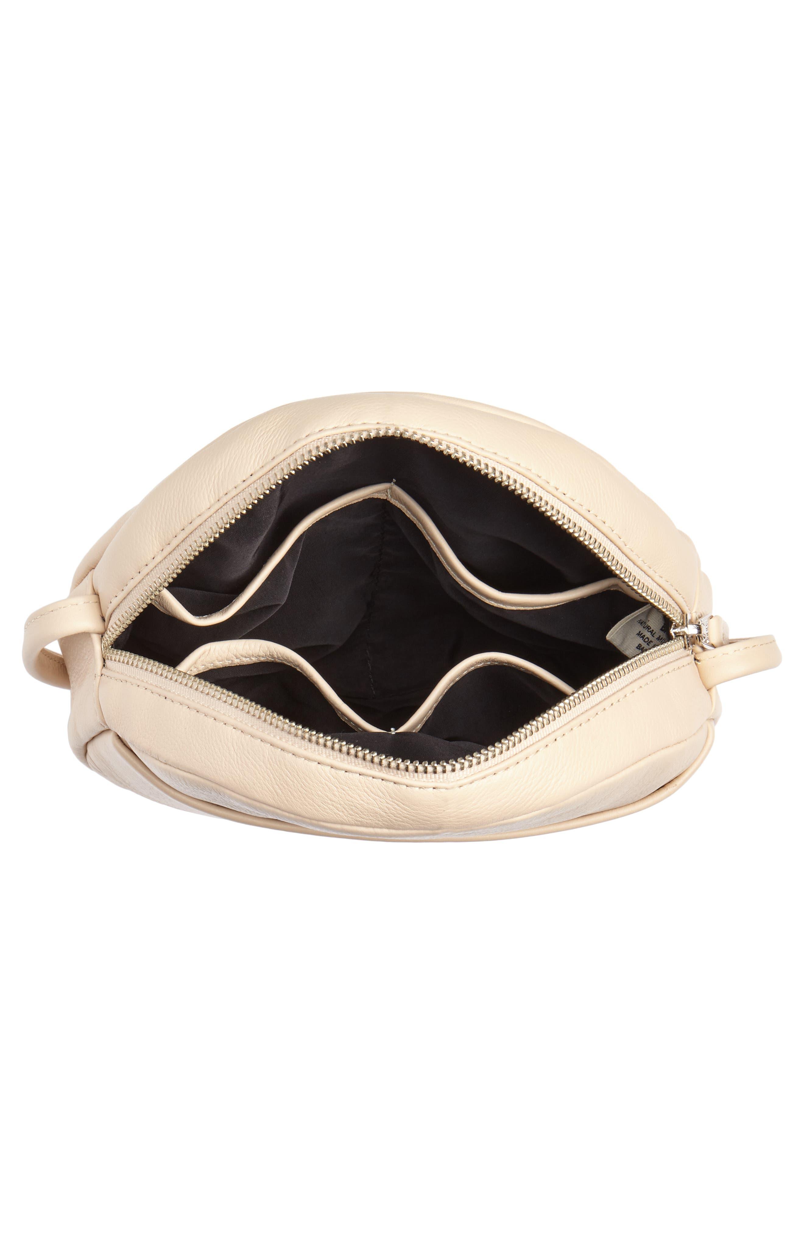 Circle Calfskin Leather Crossbody Bag,                             Alternate thumbnail 12, color,
