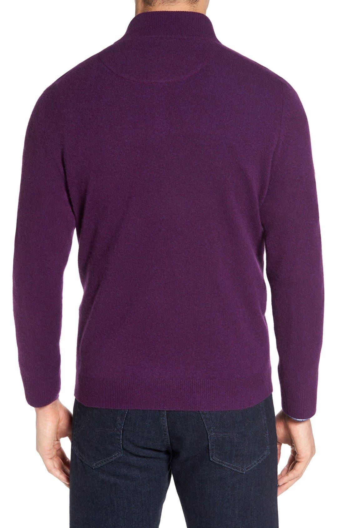 Cashmere Quarter Zip Sweater,                             Alternate thumbnail 22, color,
