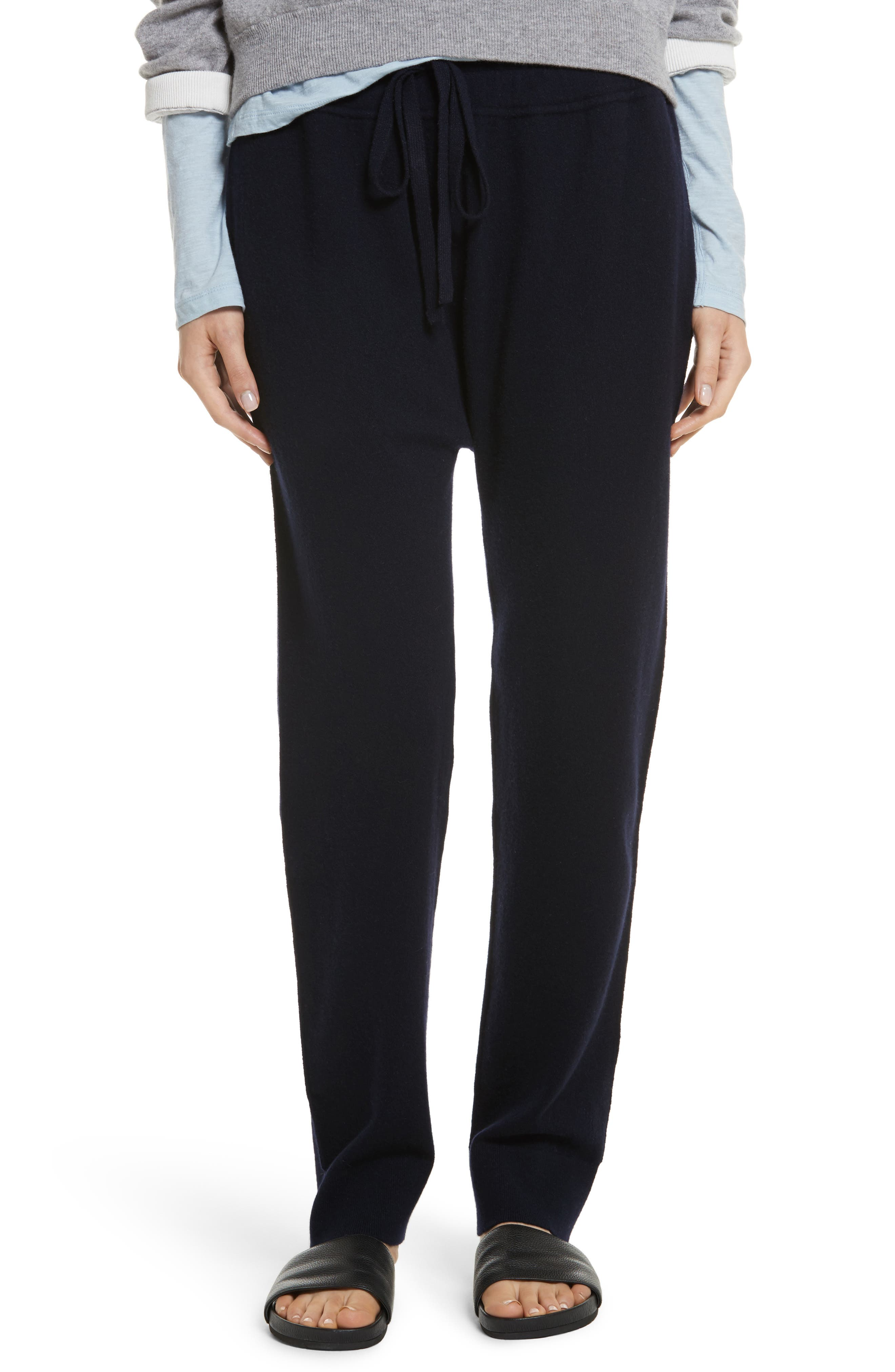 Wool & Cashmere Blend Jogger Pants,                             Main thumbnail 2, color,