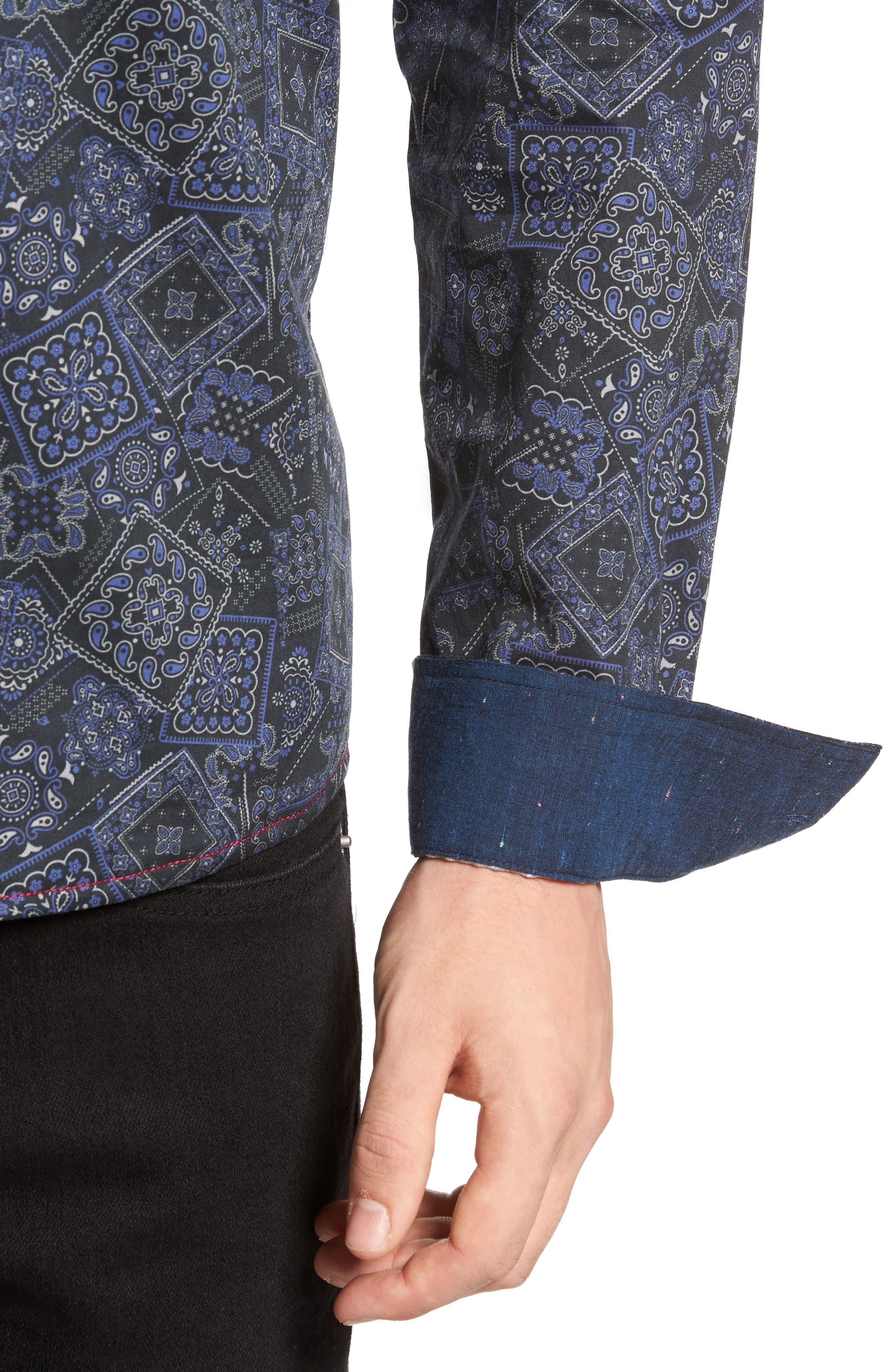 Bandana Woven Shirt,                             Alternate thumbnail 4, color,                             400