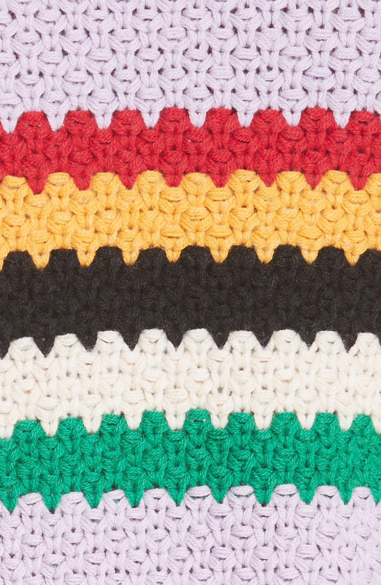 Alivia Stripe Bell Sleeve Cotton Blend Sweater,                             Alternate thumbnail 5, color,                             MULTI