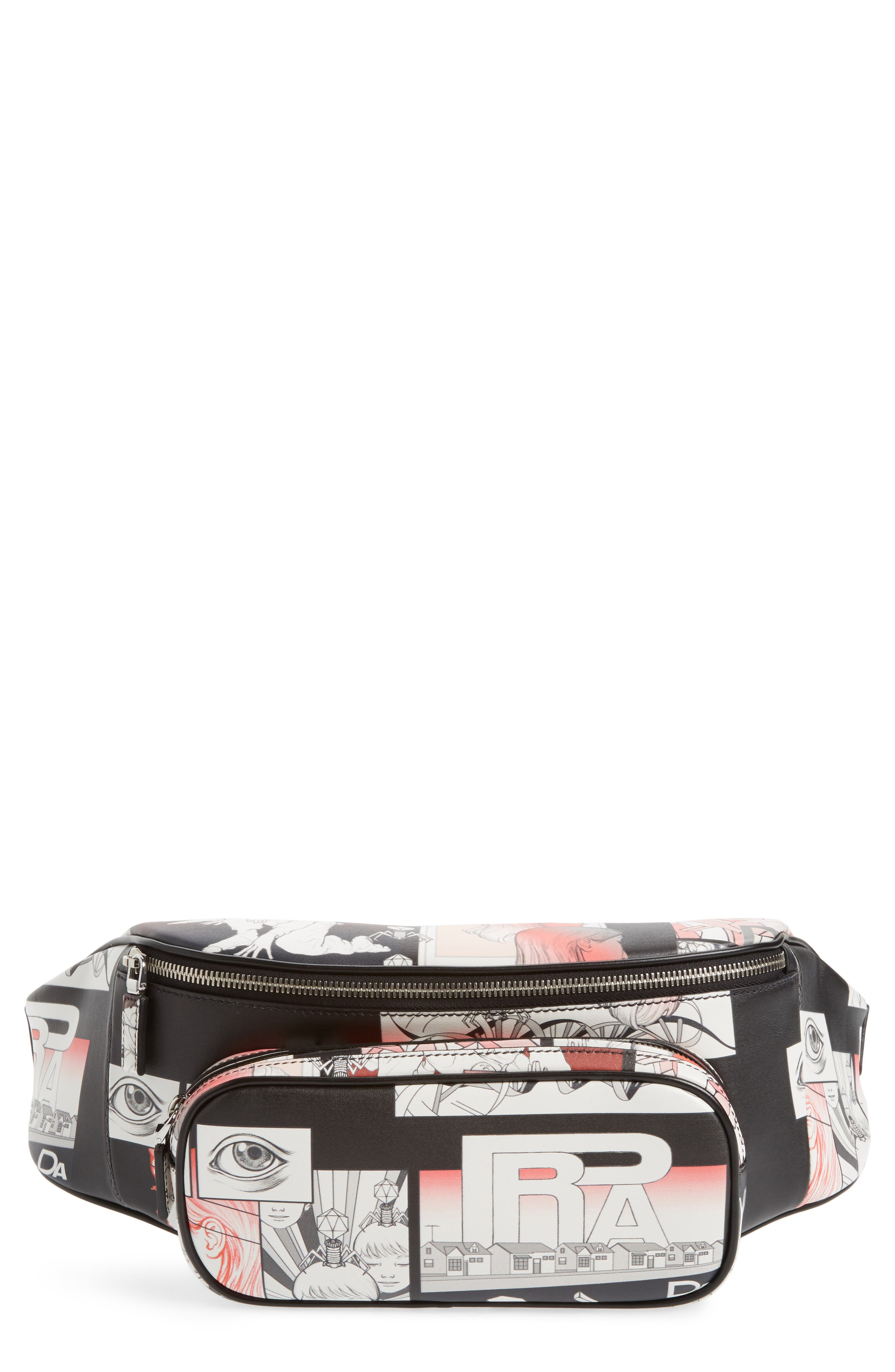 Comic Print Hip Pack,                         Main,                         color, 001