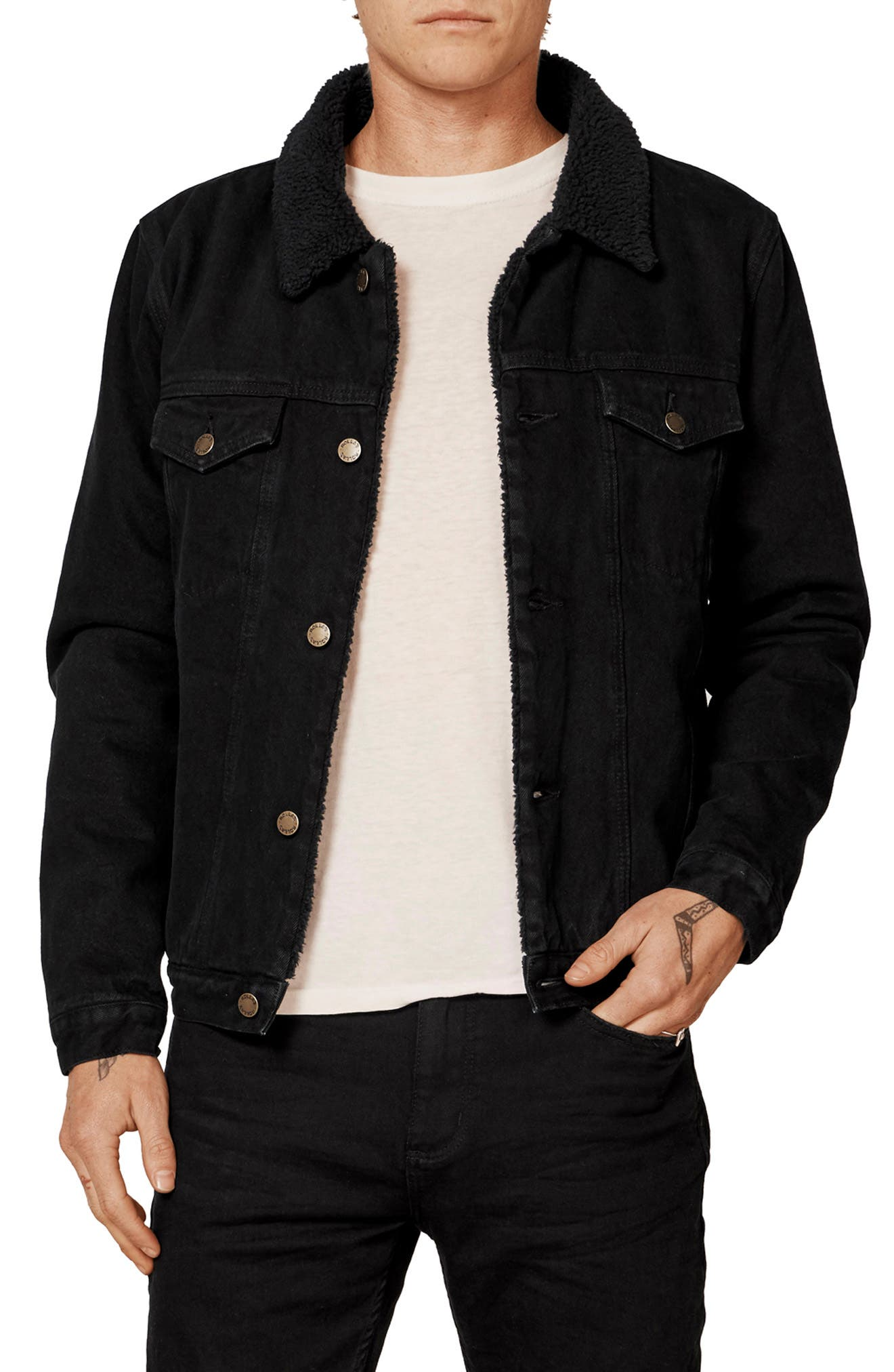 ROLLA'S,                             Lined Denim Jacket,                             Alternate thumbnail 4, color,                             002