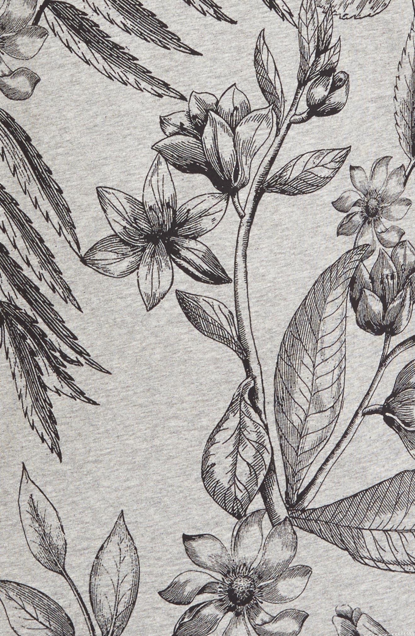 Peggi Floral Print T-Shirt,                             Alternate thumbnail 5, color,