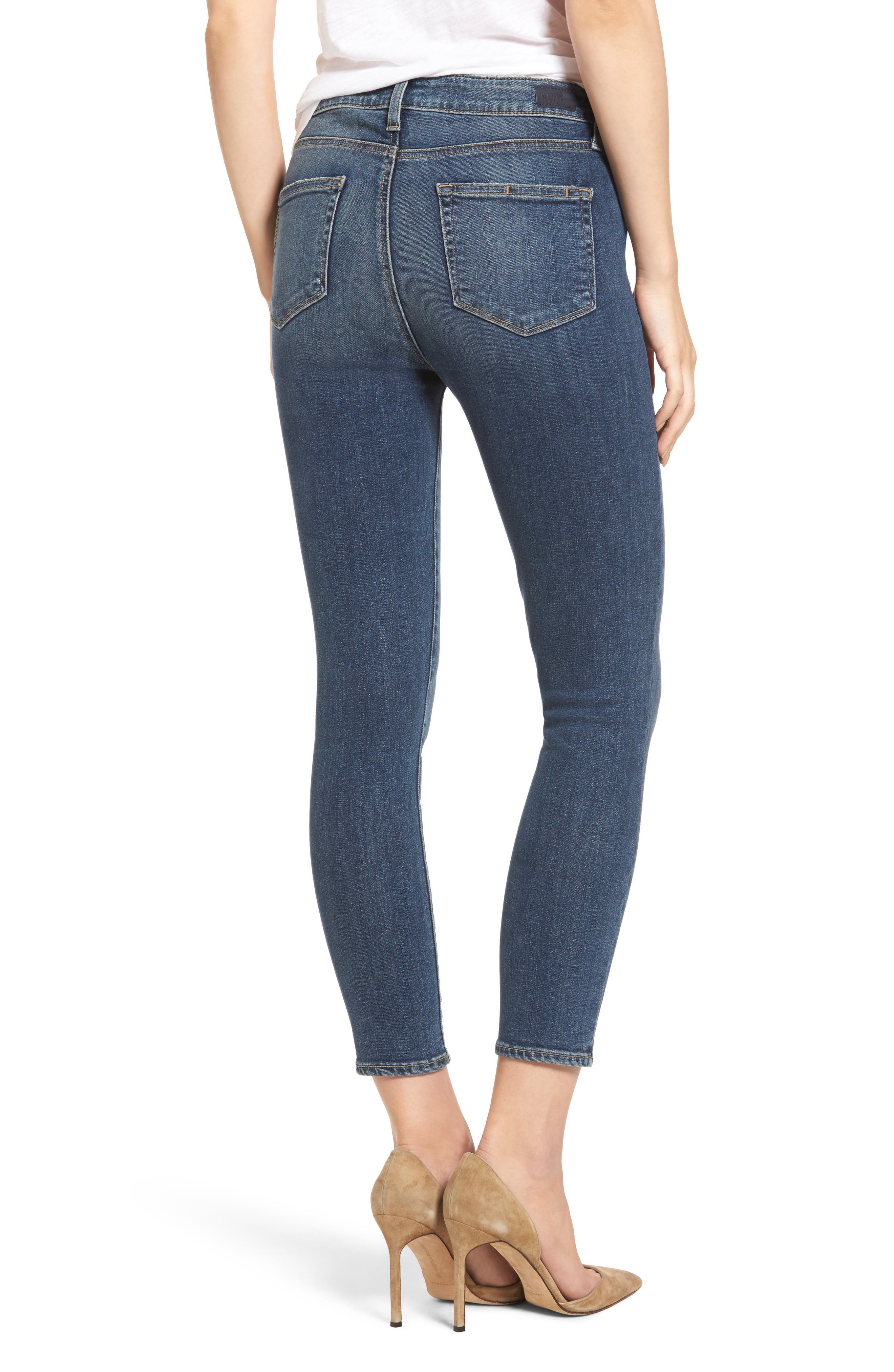 Hoxton High Waist Crop Skinny Jeans,                             Alternate thumbnail 3, color,                             400