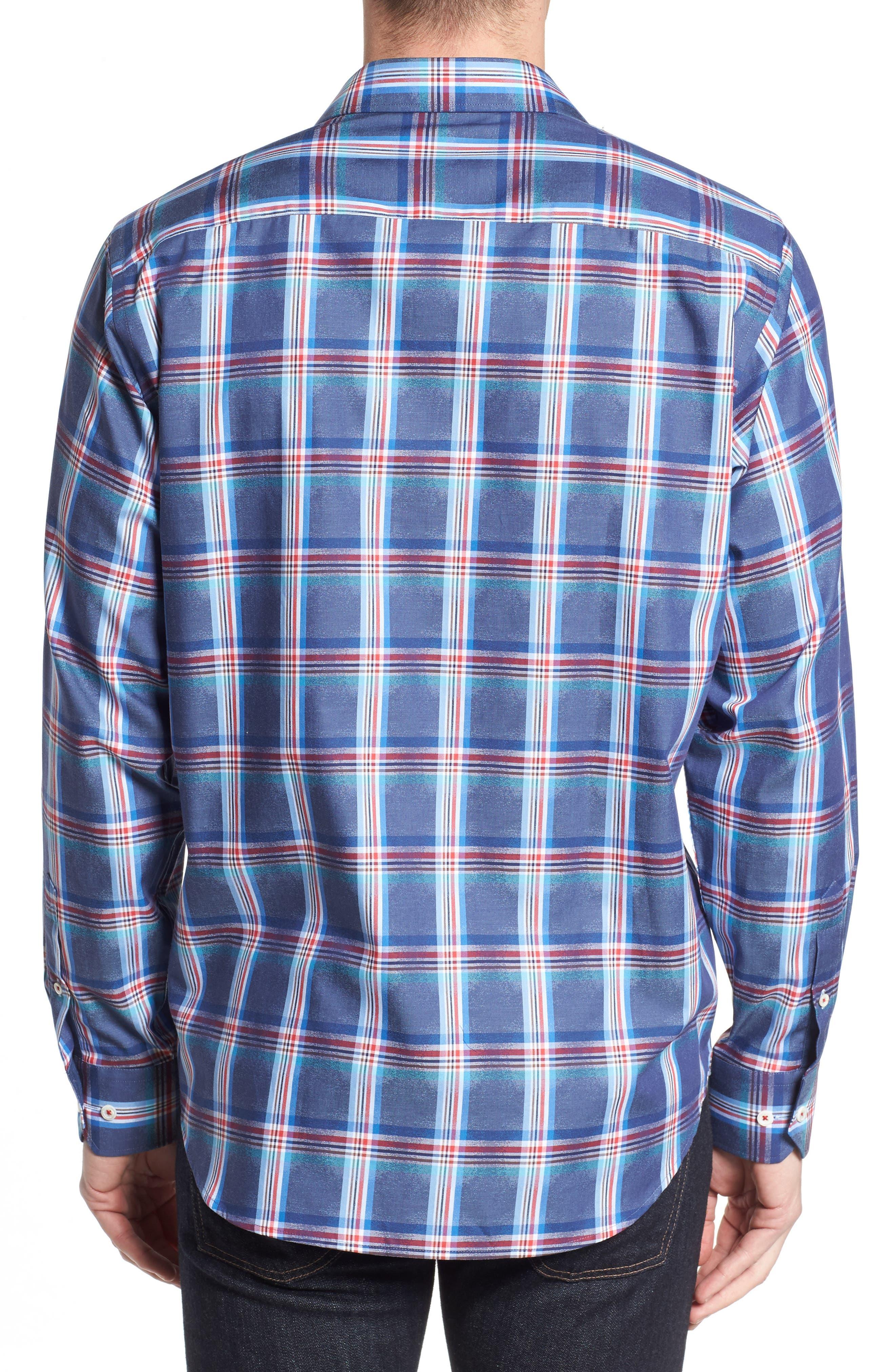 Classic Fit Plaid Sport Shirt,                             Alternate thumbnail 2, color,                             411