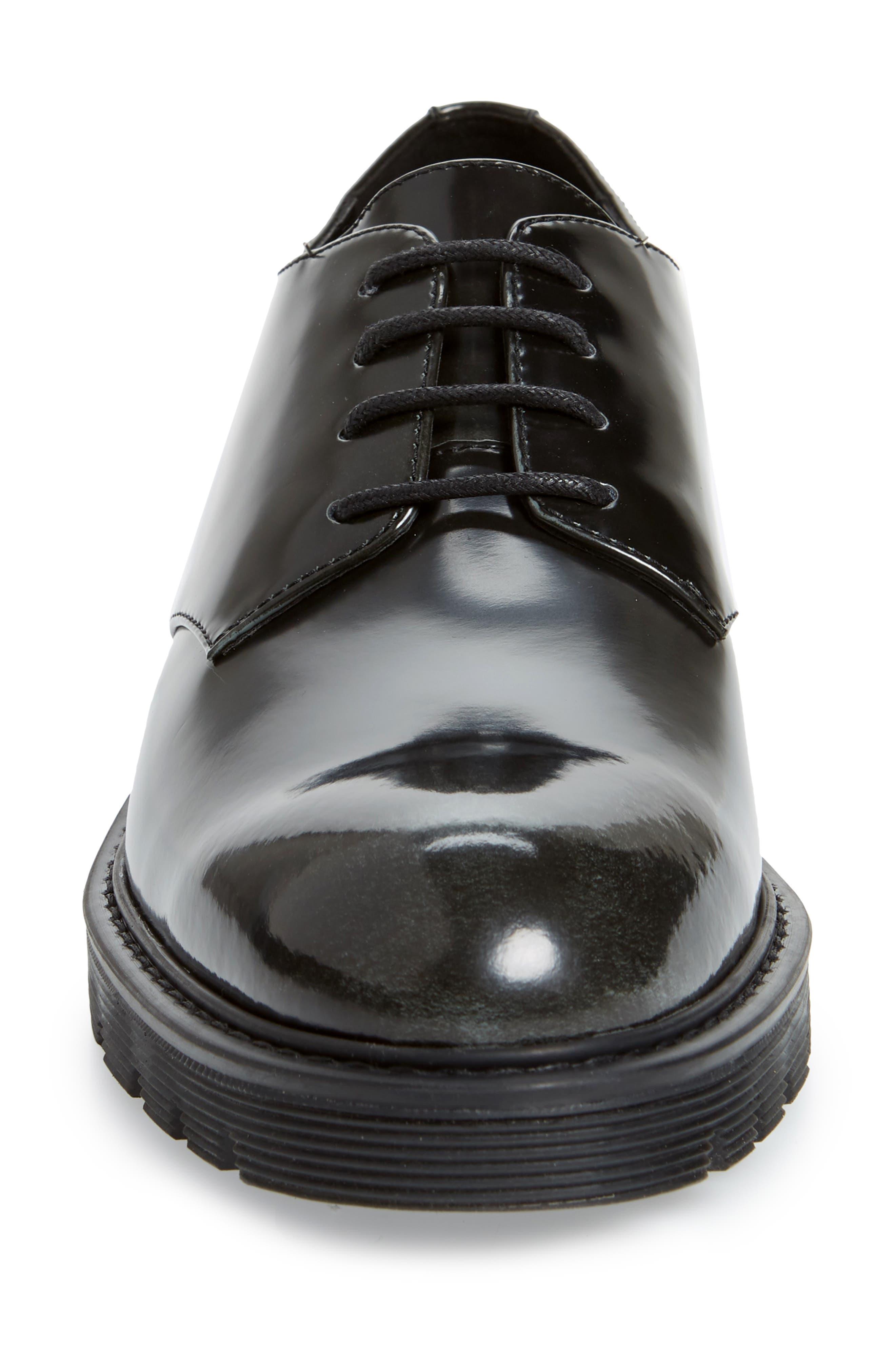 CALVIN KLEIN,                             Ferguson Plain Toe Derby,                             Alternate thumbnail 4, color,                             BLACK
