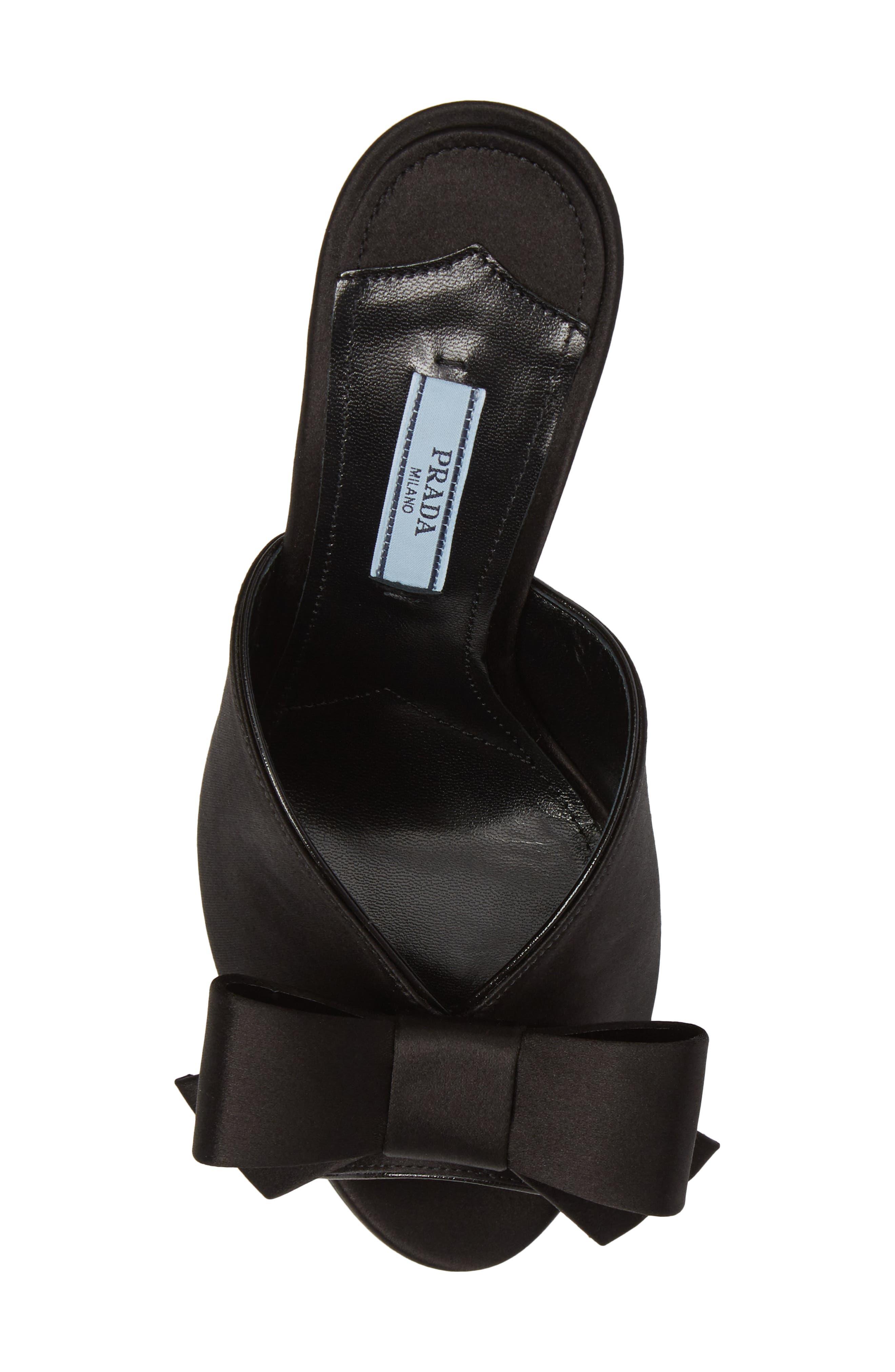 Bow Sandal,                             Alternate thumbnail 5, color,                             001