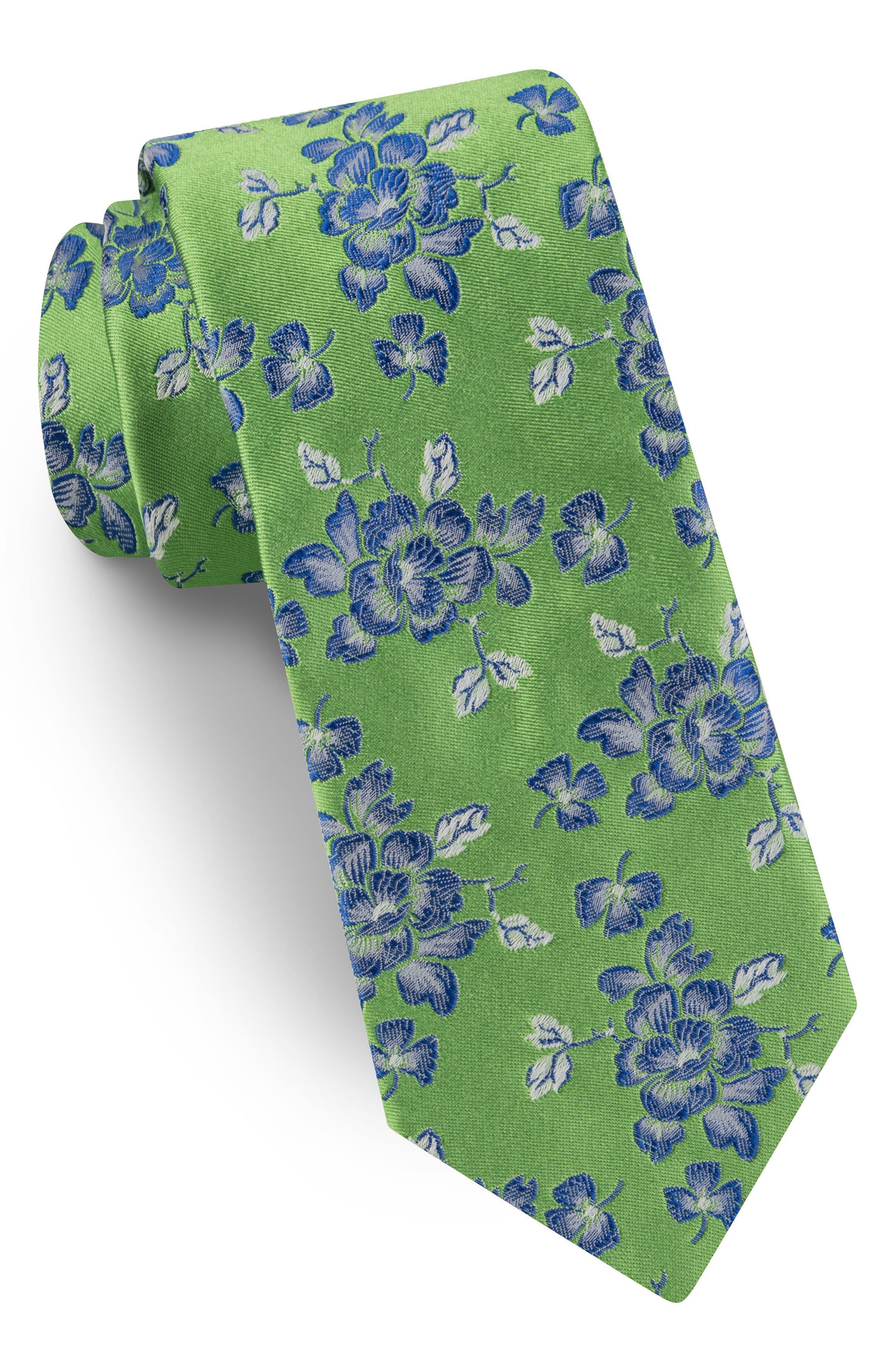 Floral Silk Tie,                             Main thumbnail 1, color,                             300