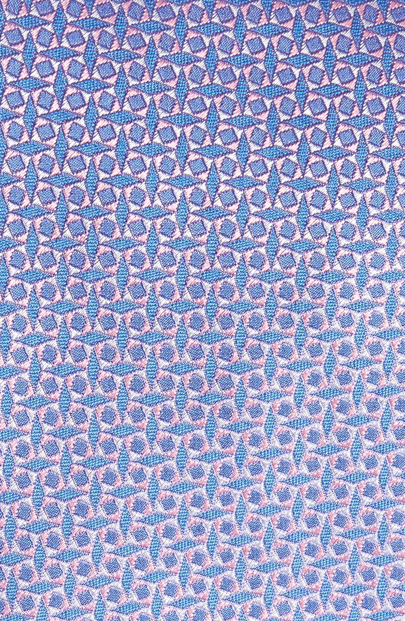 Geometric Silk Tie,                             Alternate thumbnail 2, color,                             650