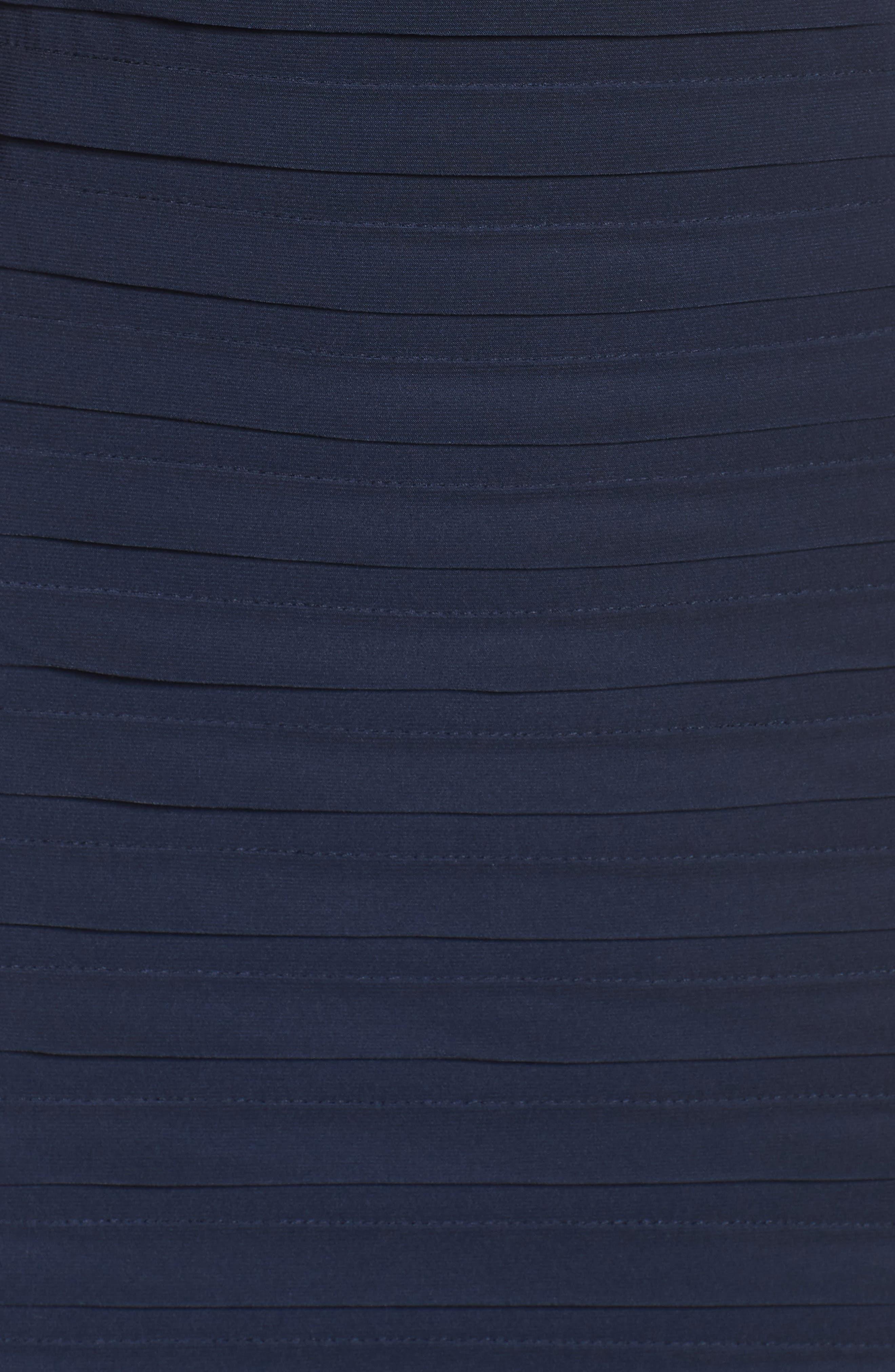 Chiffon & Jersey Sheath Dress,                             Alternate thumbnail 7, color,                             408