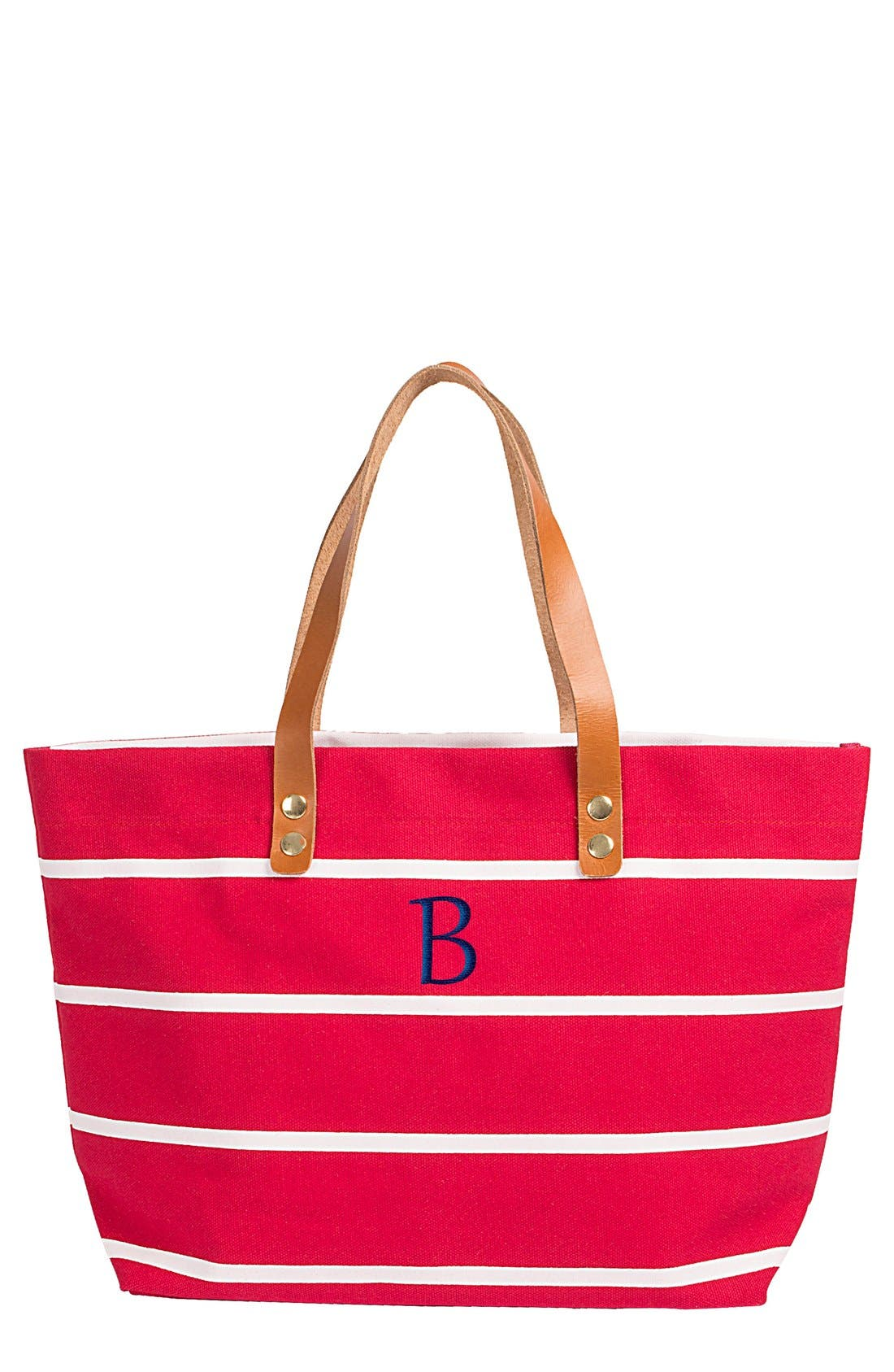 Monogram Stripe Tote,                             Main thumbnail 128, color,