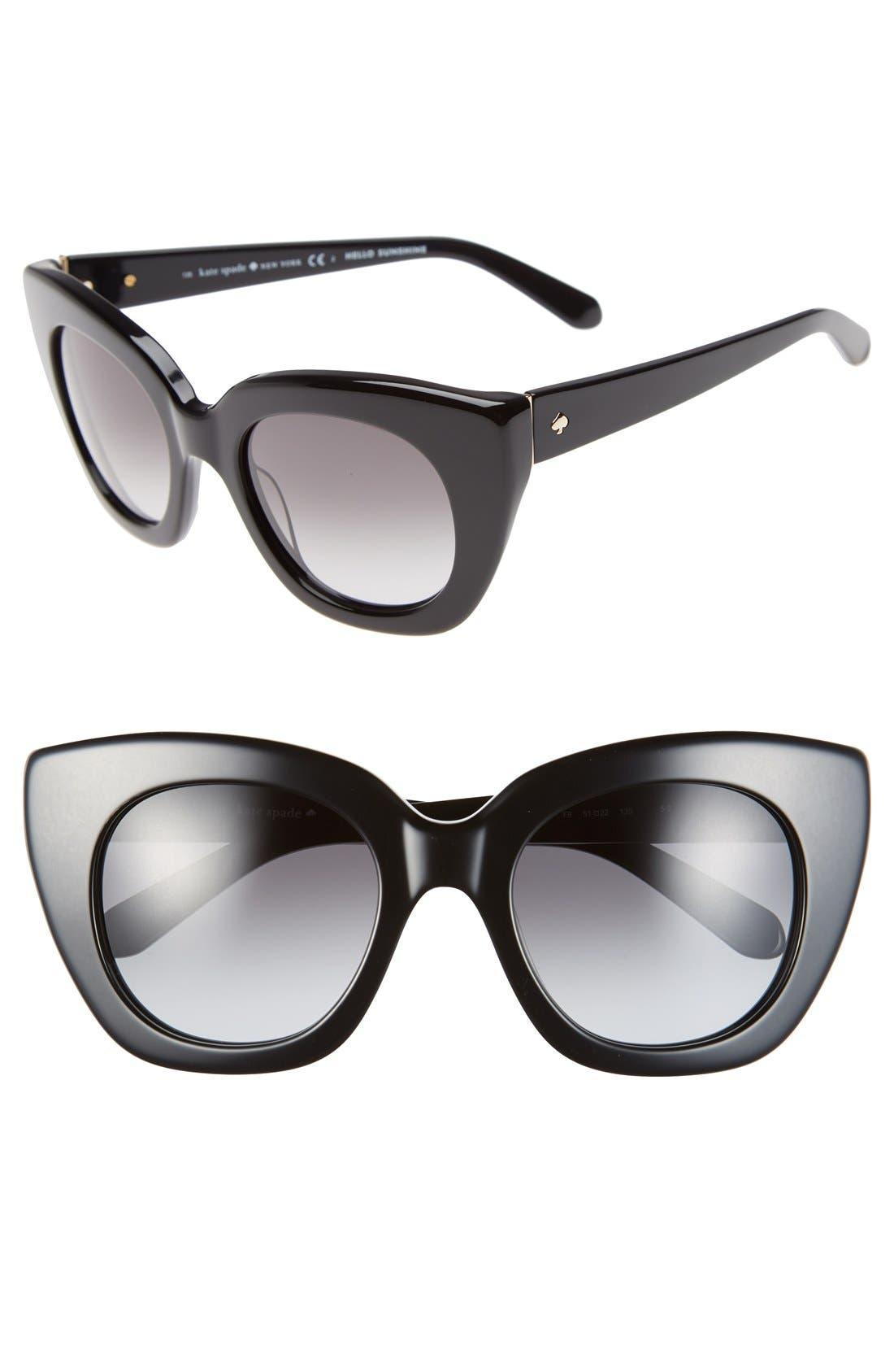 'narelle' 51mm retro sunglasses,                             Main thumbnail 1, color,