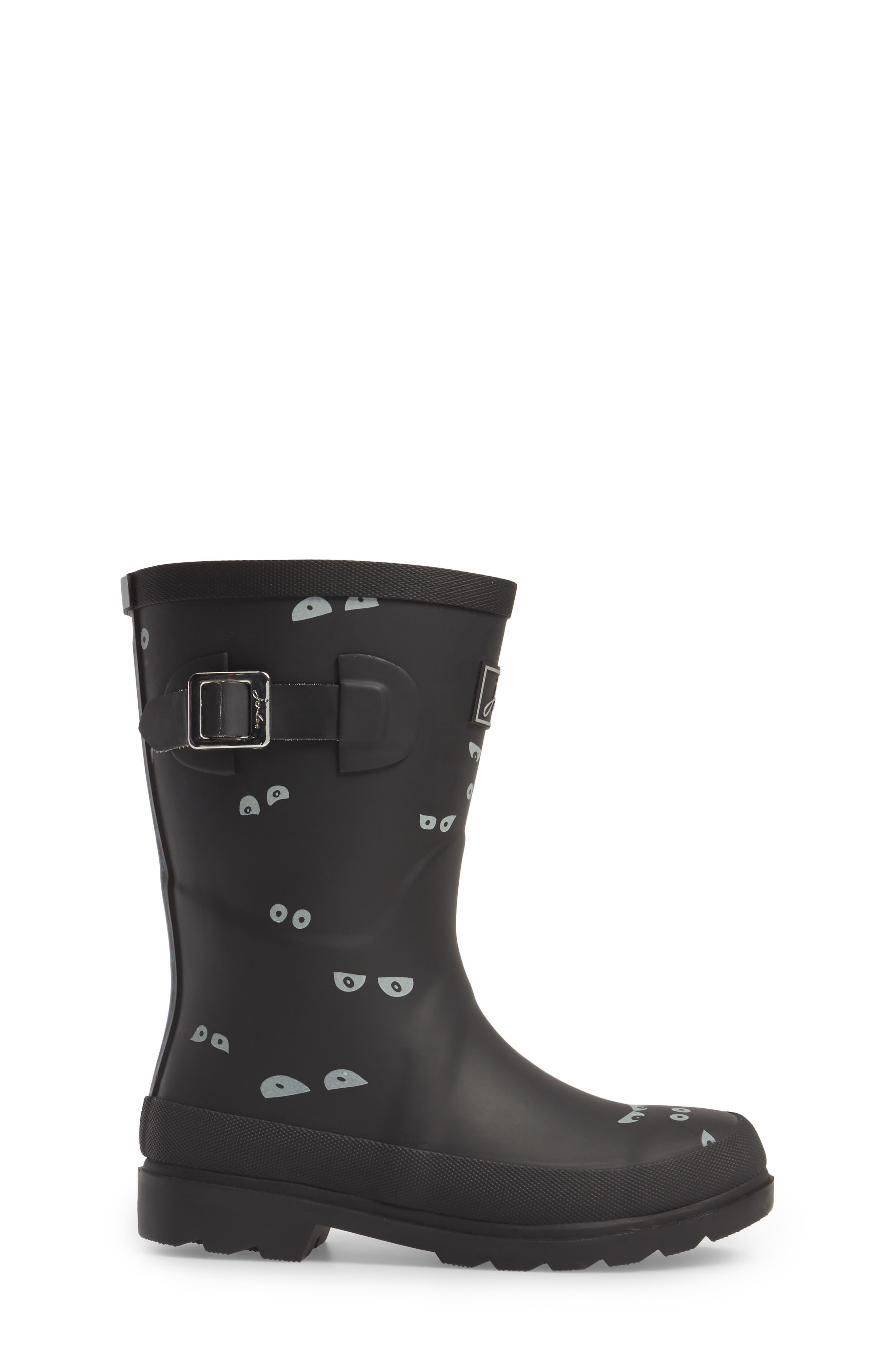 Printed Waterproof Rain Boot,                             Alternate thumbnail 3, color,                             001