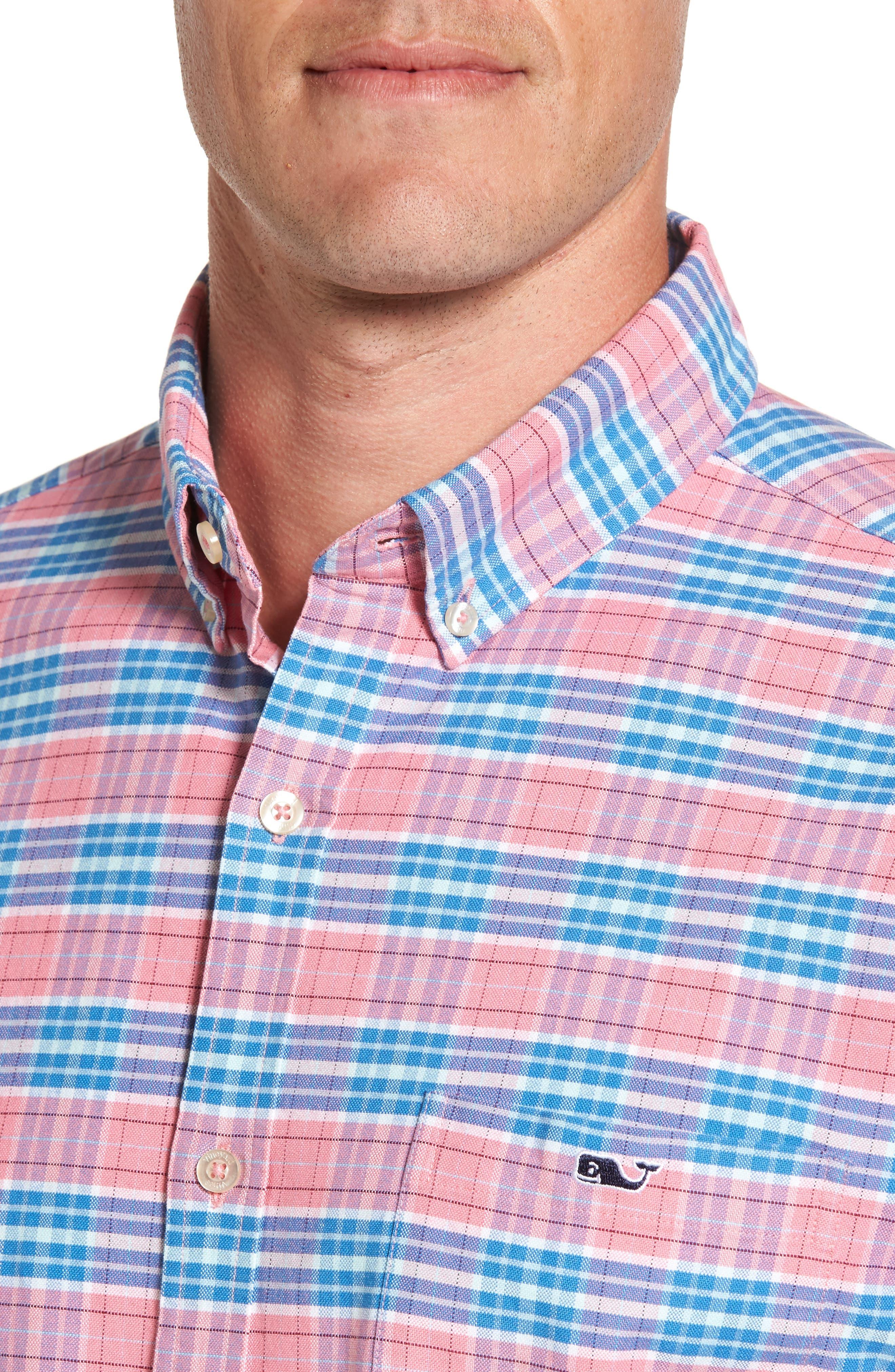 Island Reach Slim Fit Tucker Sport Shirt,                             Alternate thumbnail 4, color,