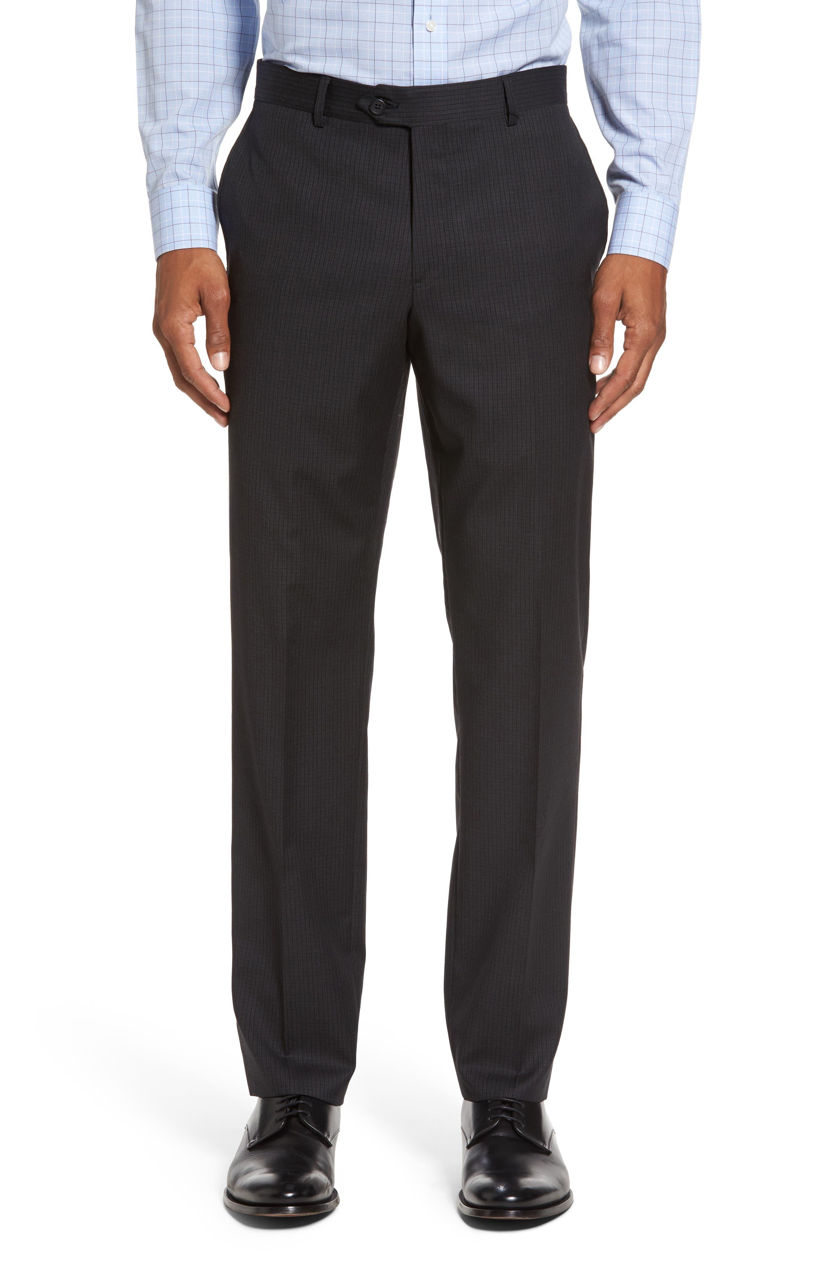 Classic Fit Check Wool Suit,                             Alternate thumbnail 6, color,                             001