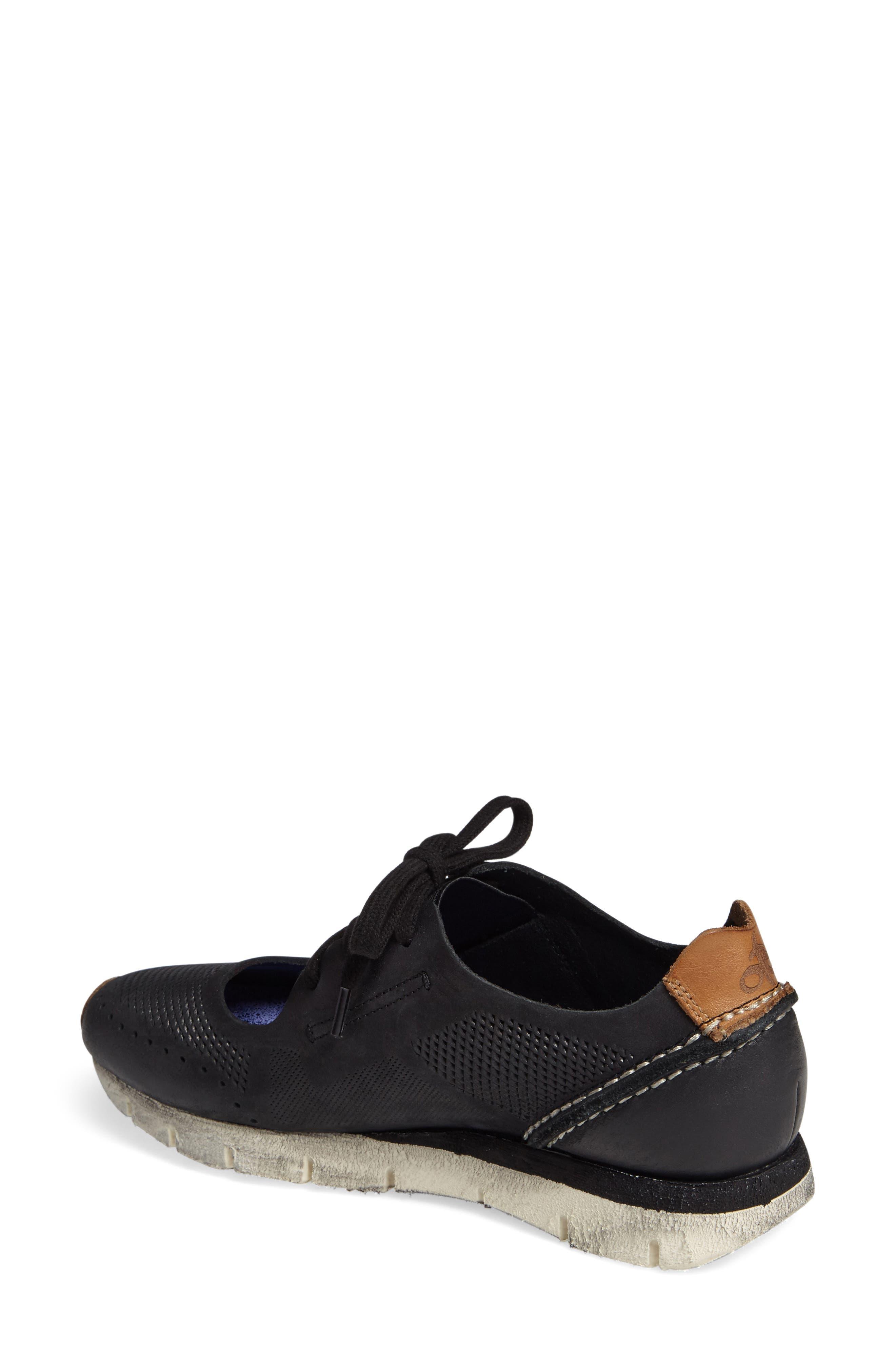Star Dust Cutout Sneaker,                             Alternate thumbnail 2, color,                             BLACK LEATHER