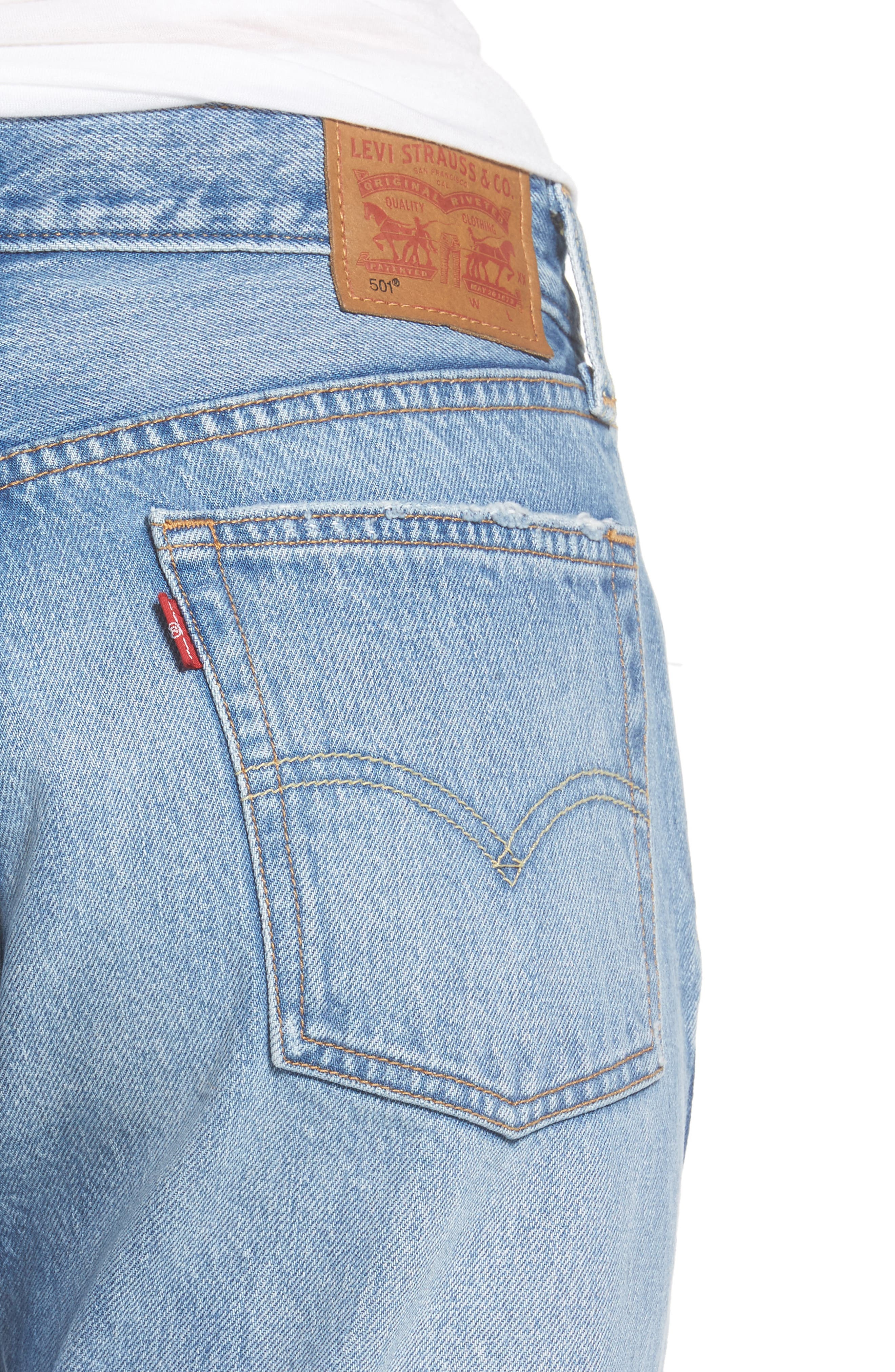 501 Crop Jeans,                             Alternate thumbnail 4, color,                             420