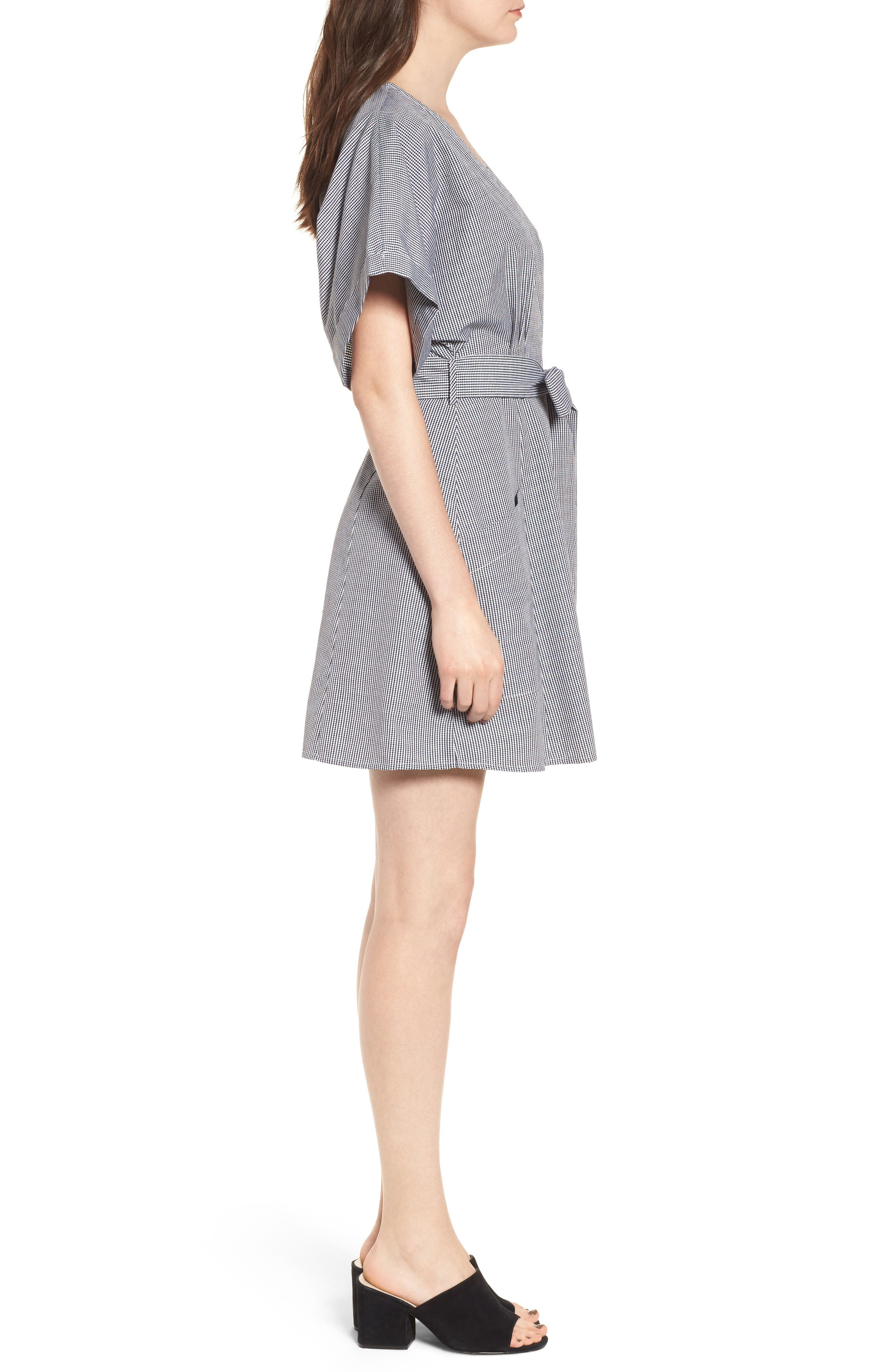 Button Front Dress,                             Alternate thumbnail 8, color,